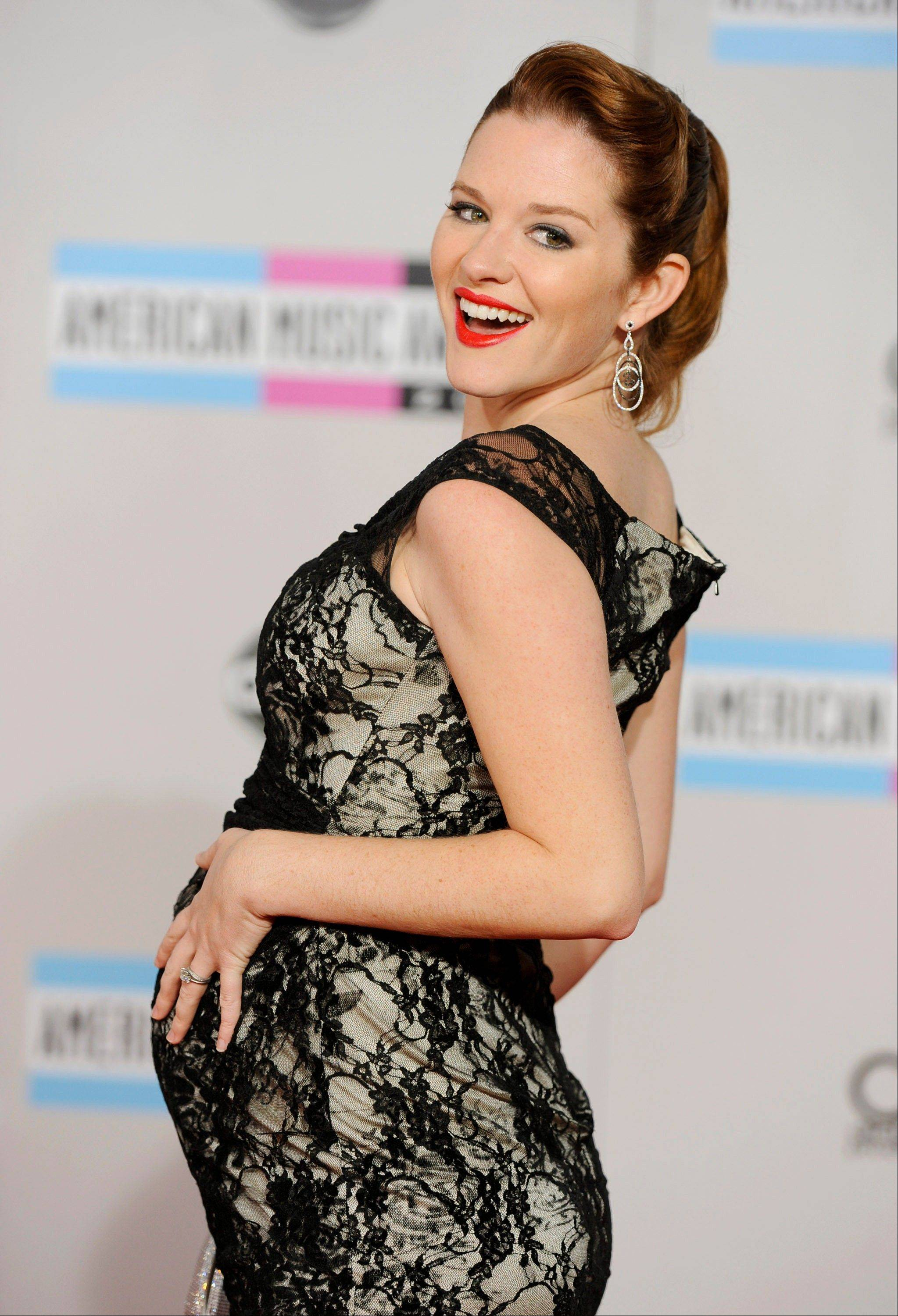Sarah Drew arrives at the 39th Annual American Music Awards on Sunday, Nov. 20, 2011 in Los Angeles.