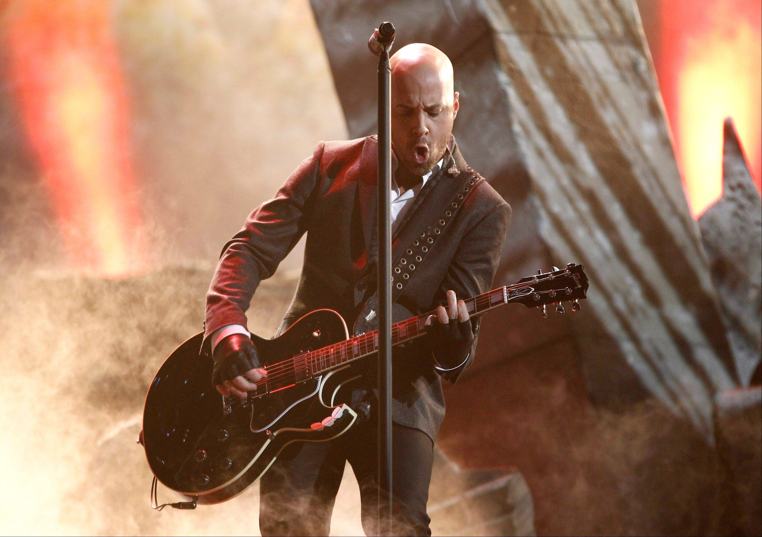 Chris Daughtry, of the band Daughtry, perform at the 39th Annual American Music Awards on Sunday, Nov. 20, 2011 in Los Angeles.