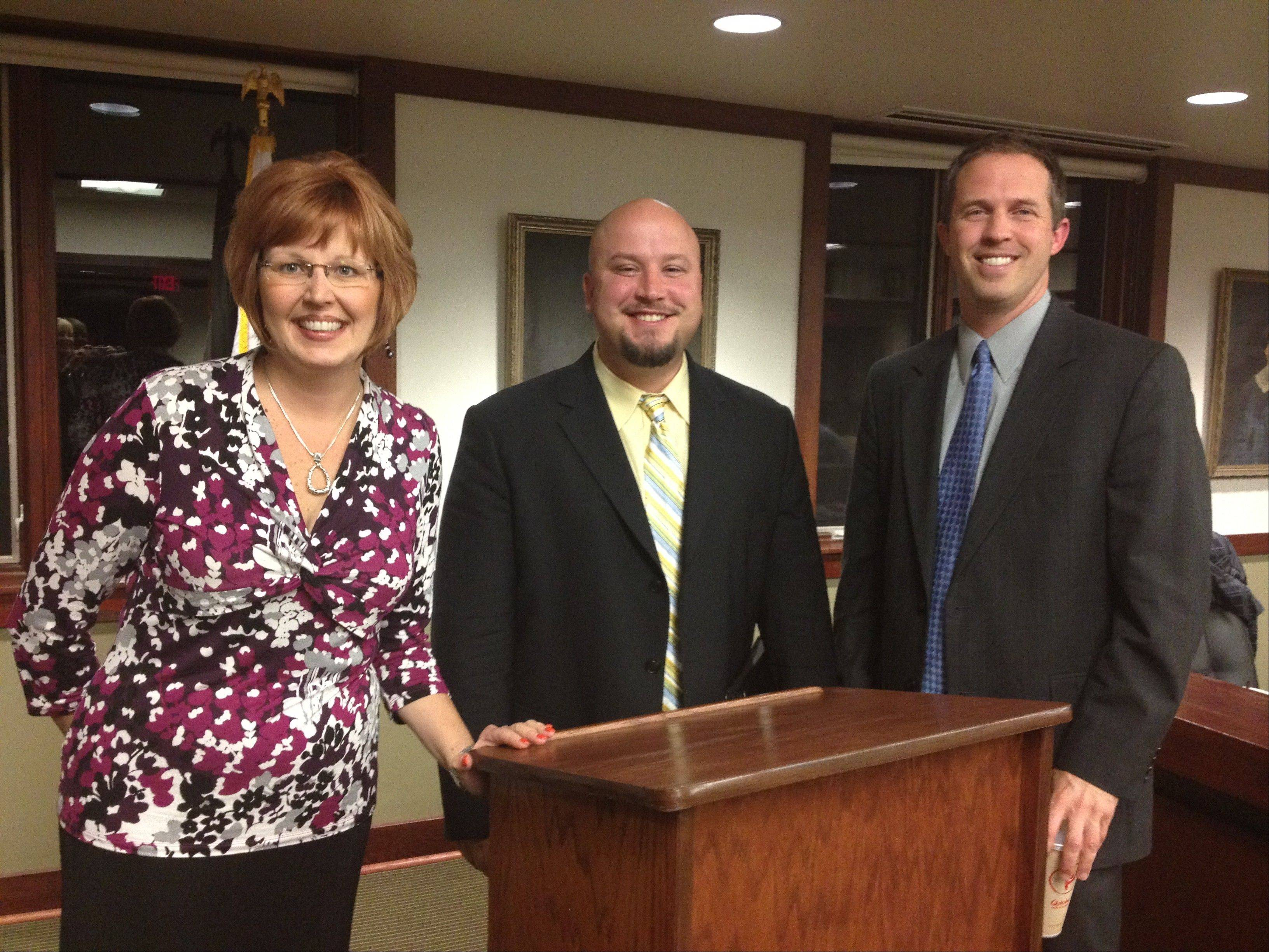 Brian Faulkner, center, will be the new principal at F.E. Peacock Middle School in Itasca.