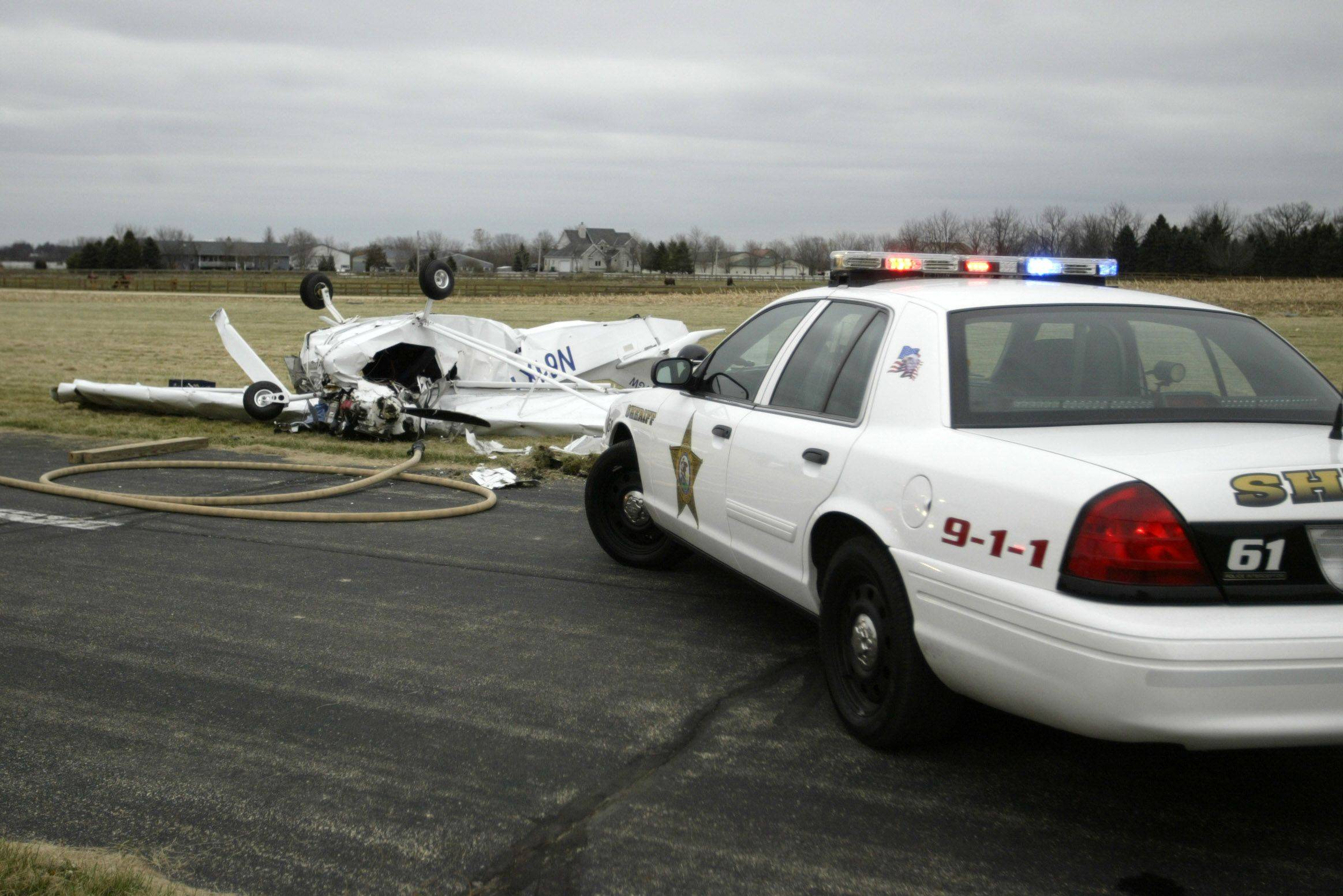 A plane crashed Sunday in Elgin, killing a 69-year-old Hampshire man. The cause was not yet known Sunday.