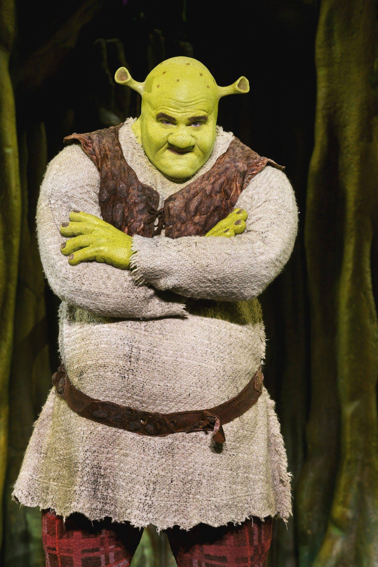 "Lucas Poost stars as the easily annoyed ogre in ""Shrek the Musical,"" coming to the Rosemont Theatre from Friday through Sunday, Nov. 25-27."