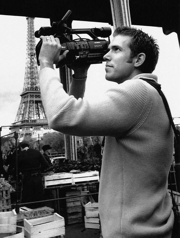 "Ryan Suffern films in Paris while doing the ""making-of"" footage for the Steven Spielberg movie ""Munich."""