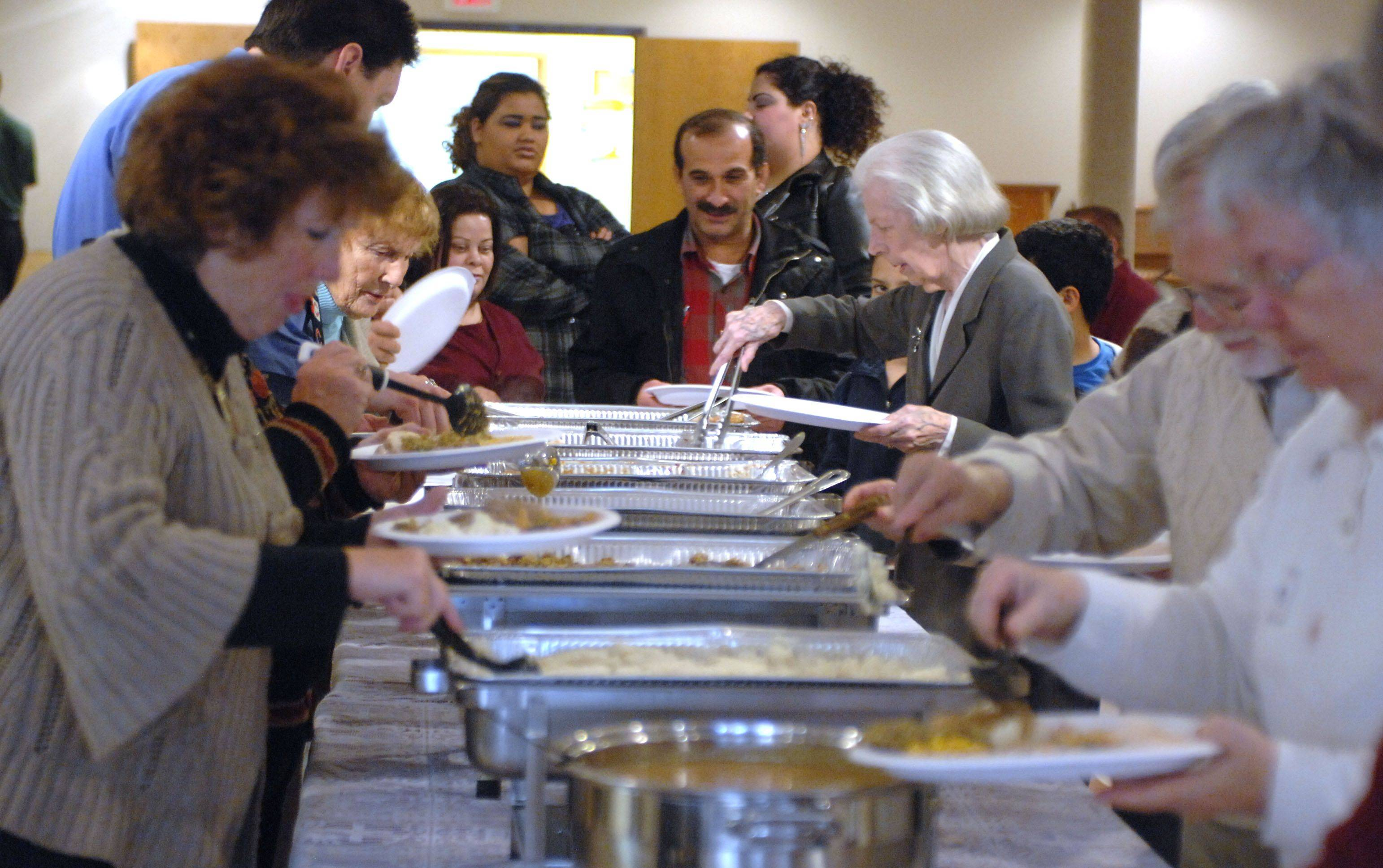 St. Matthew Lutheran Church in Hawthorn Woods held their annual Thanksgiving meal Thursday.
