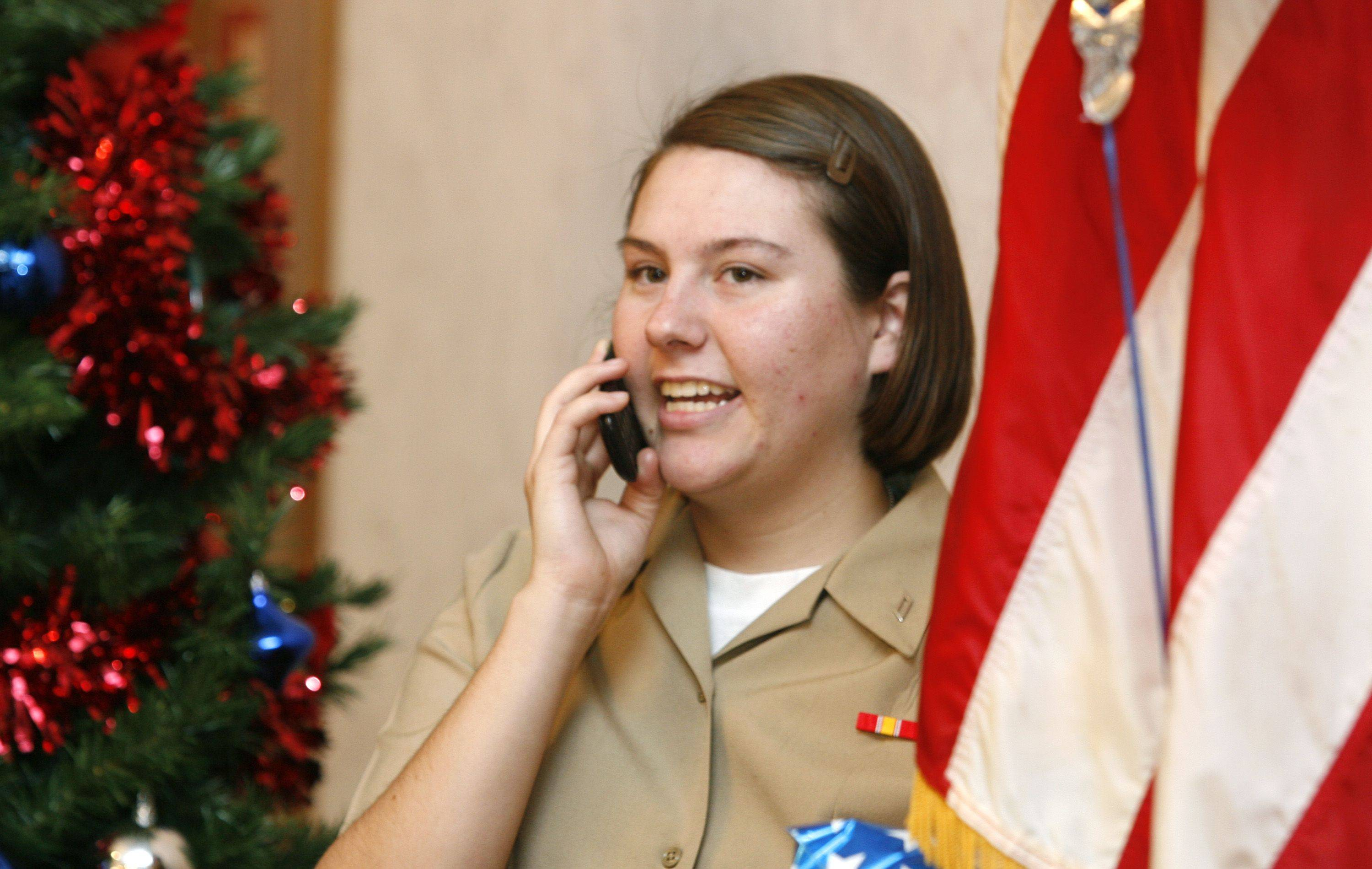 Ashley Marks of Sandusky, Michigan calls home. Marks, along with 150 other Great Lakes Navy recruits, visited Villa Park VFW Post 2801 for Thanksgiving dinner and entertainment.