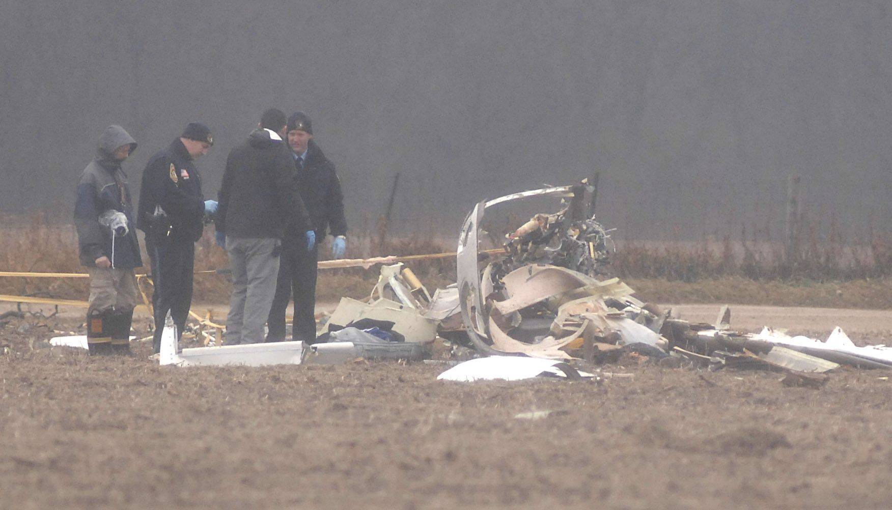 Police and the McHenry County coroner were on the scene of the fatal plane crash Saturday near Crystal Lake.