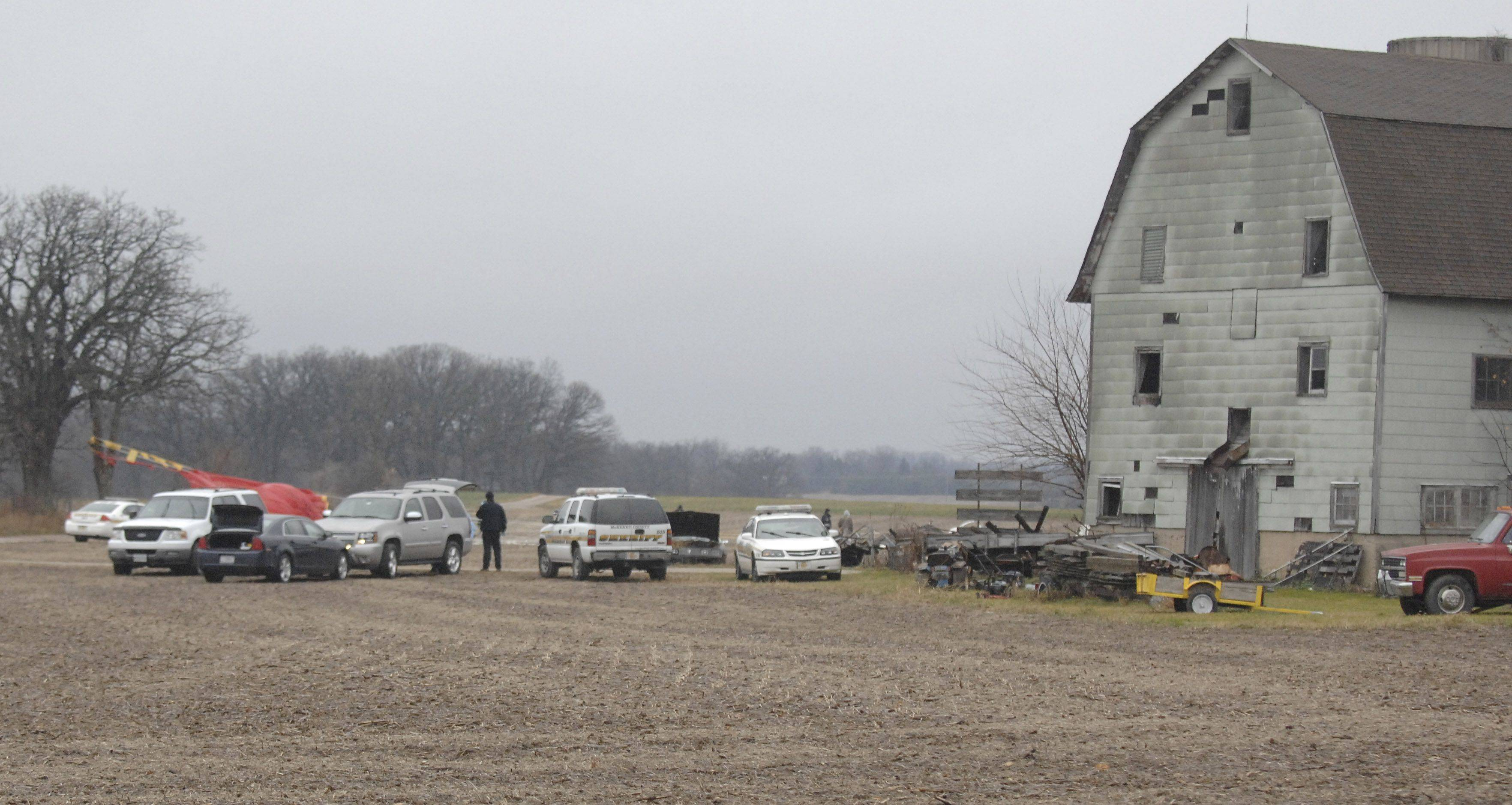 McHenry County Sheriff Deputy Aimee Knop talks to media across the street from the scene of the fatal plane crash Saturday near Crystal Lake.