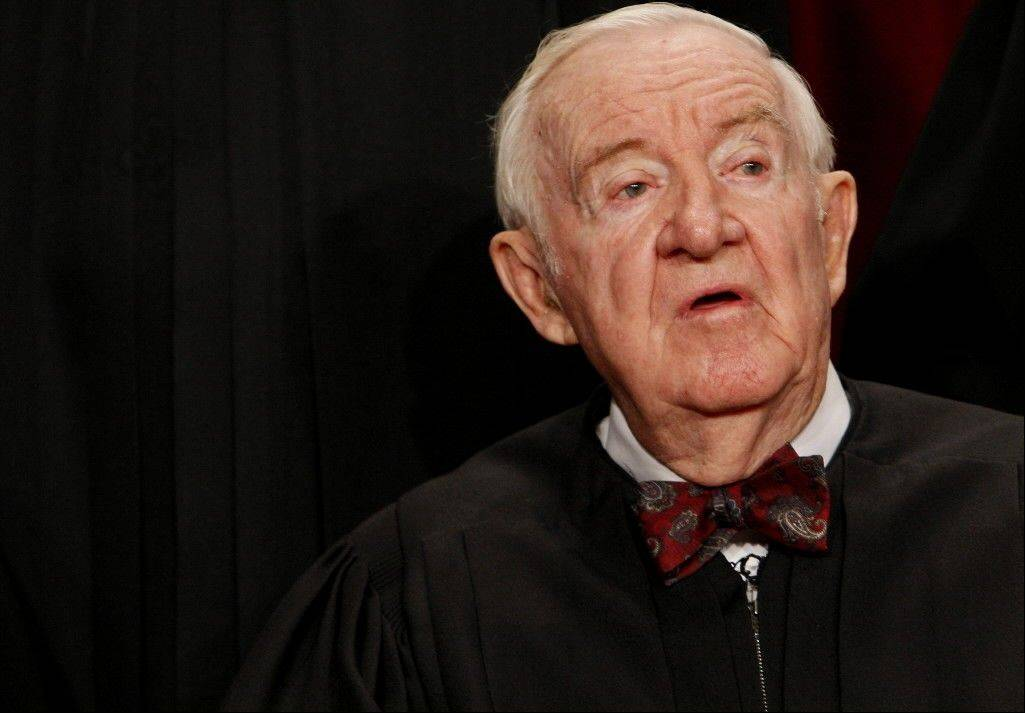 John Paul Stevens had served 34½ years on the U.S. Supreme Court when he retired in June last year. That made him the third longest-serving justice in the nation's history, and his age at the time, 90 years and two months, made him the second-oldest to have sat on the court, just behind Oliver Wendell Holmes.