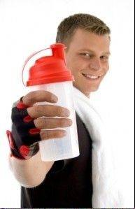 A protein shake before and after exercise can make your workout more effective.