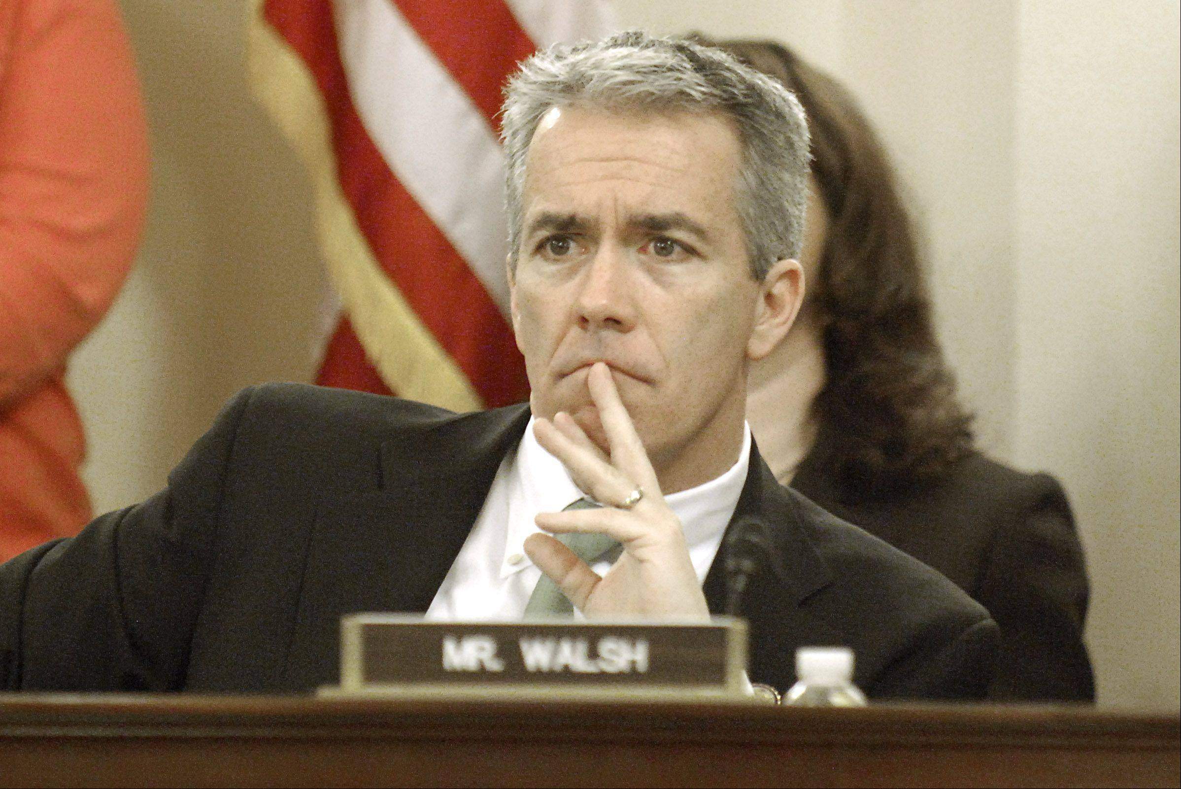 Congressman Joe Walsh may be considering running in the 8th District, not the 14th, in the March primary.