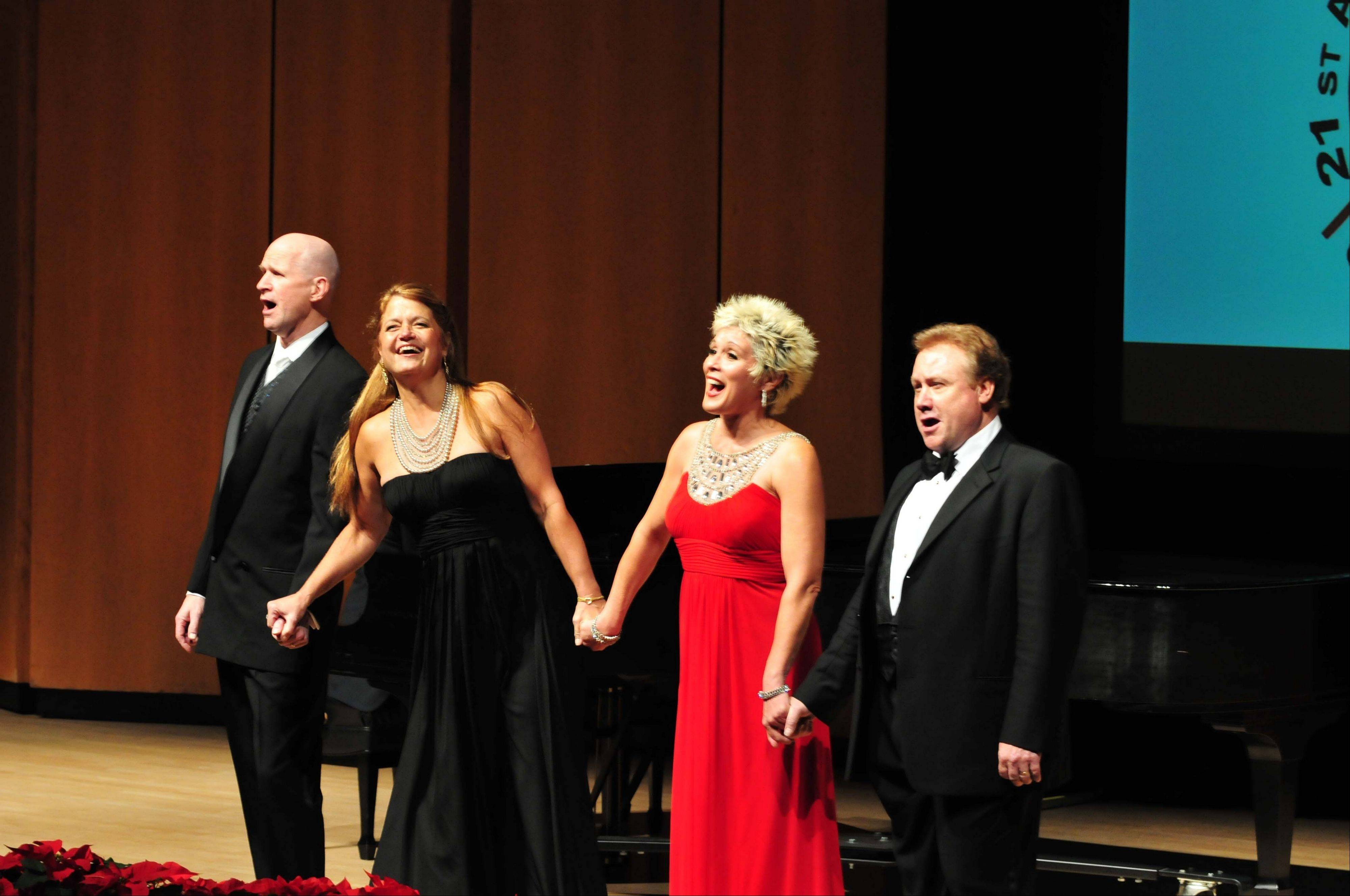 Evanston native and opera singer Nancy Gustafson, second from left, will perform with other opera stars as part of the Over the Rainbow Association's 22nd Anniversary Celebration Benefit Concert.