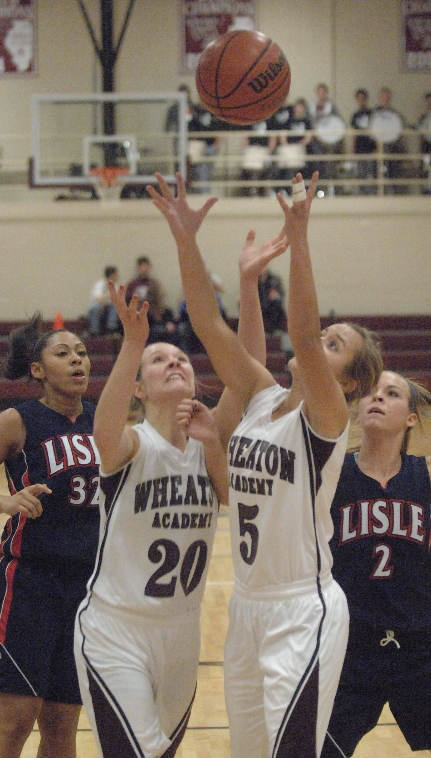 Images from the Lisle vs. Wheaton Academy girls basketball game in West Chicago on Tuesday, November 29.