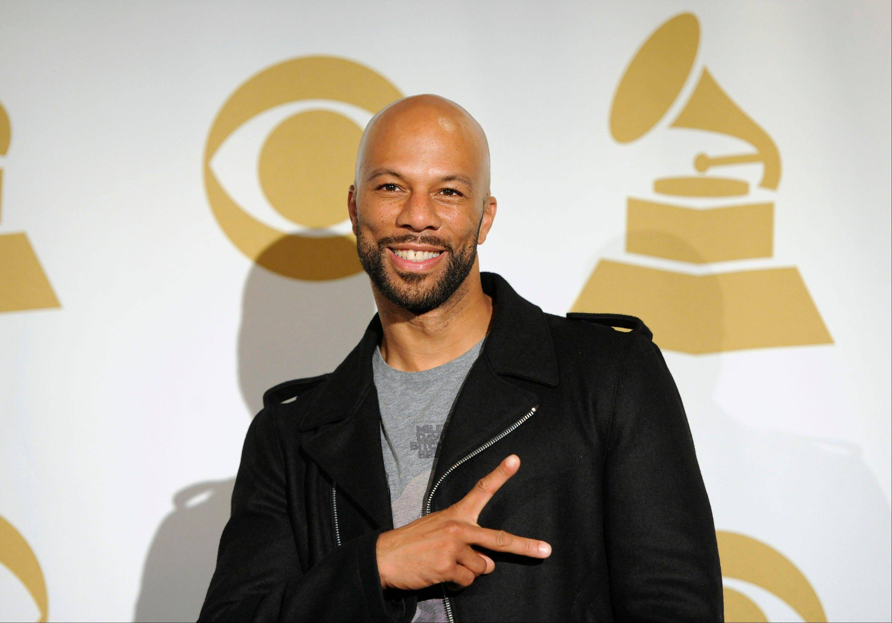Common is seen backstage Wednesday at the Grammy Nominations Concert in Los Angeles.