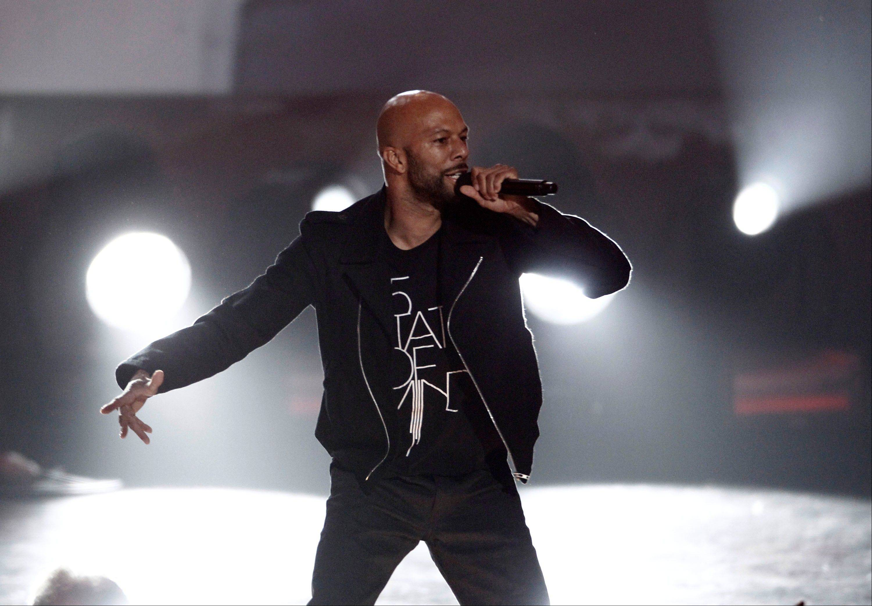 Common performs Wednesday at the Grammy Nominations Concert in Los Angeles.