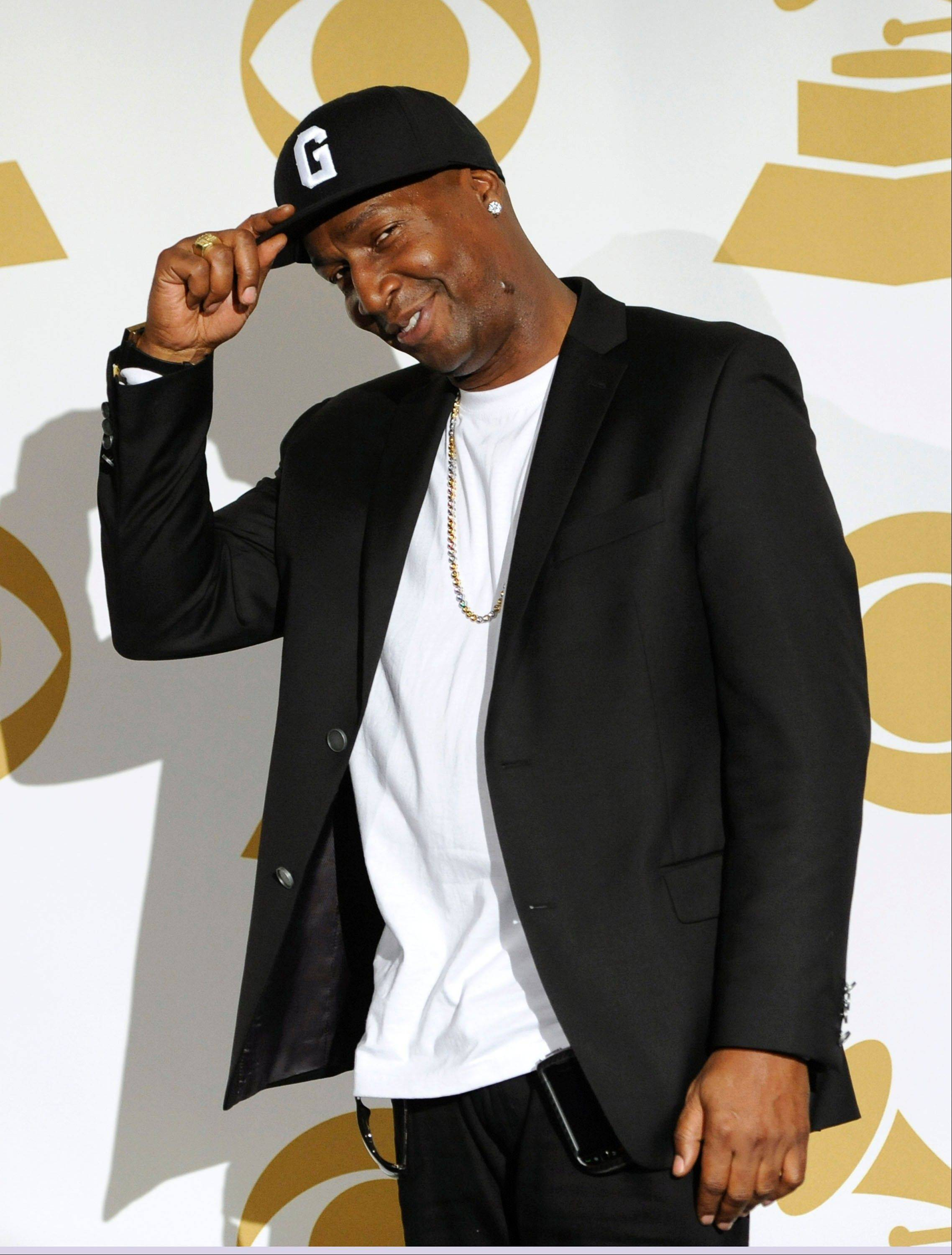 Grandmaster Flash is seen backstage Wednesday at the Grammy Nominations Concert in Los Angeles.