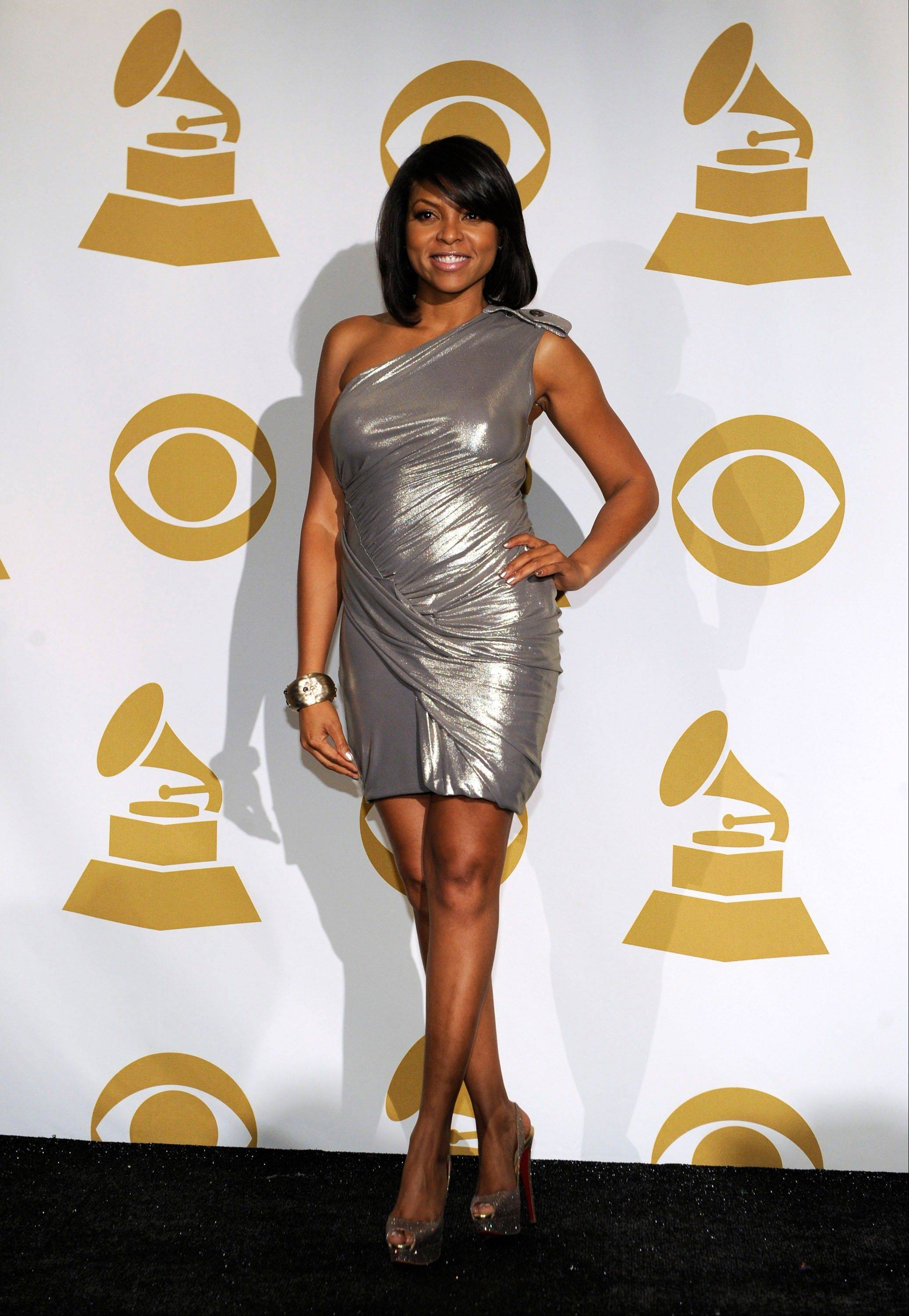 Taraji P. Henson is seen backstage Wednesday at the Grammy Nominations Concert in Los Angeles.