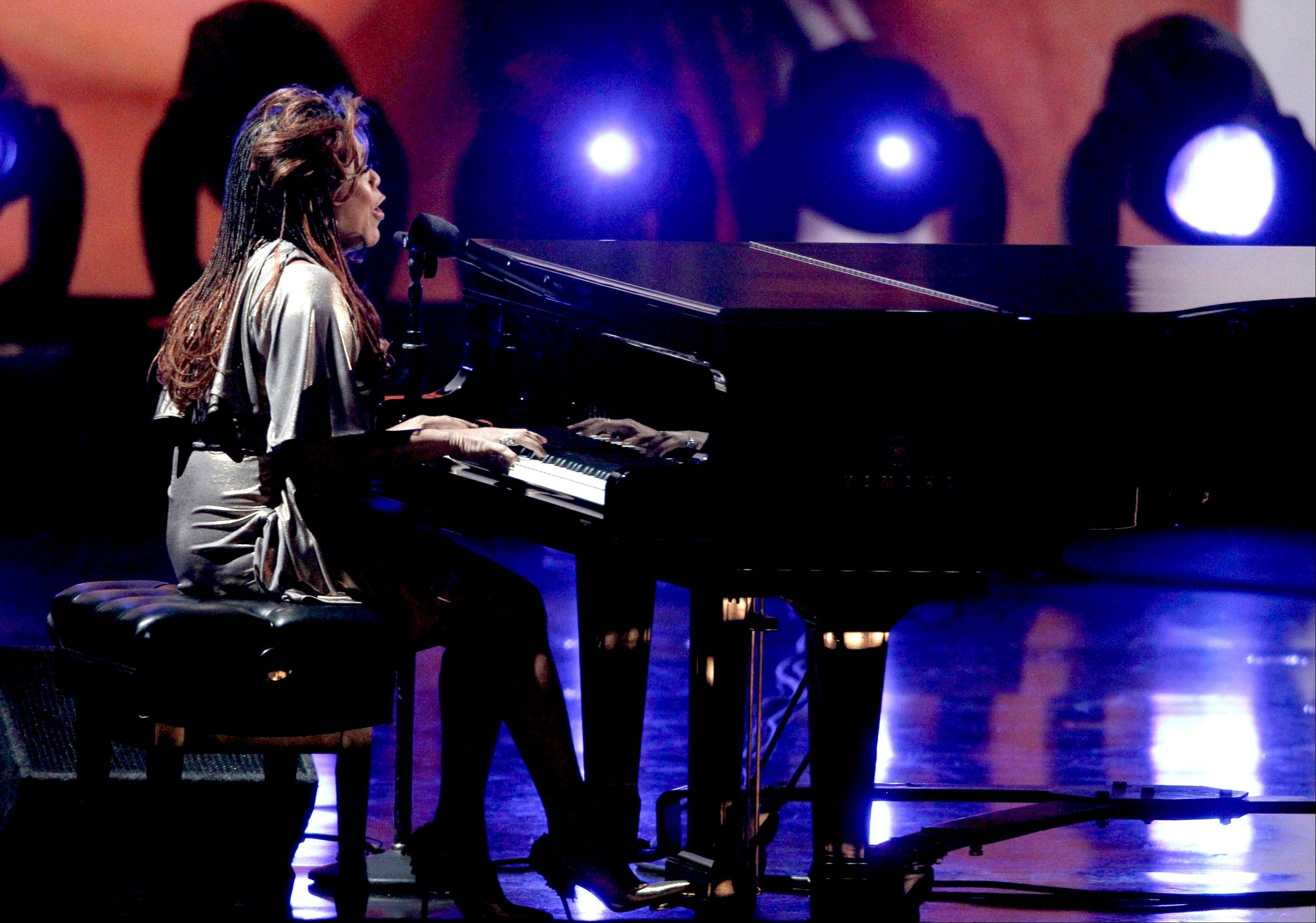 Valerie Simpson performs Wednesday at the Grammy Nominations Concert in Los Angeles.