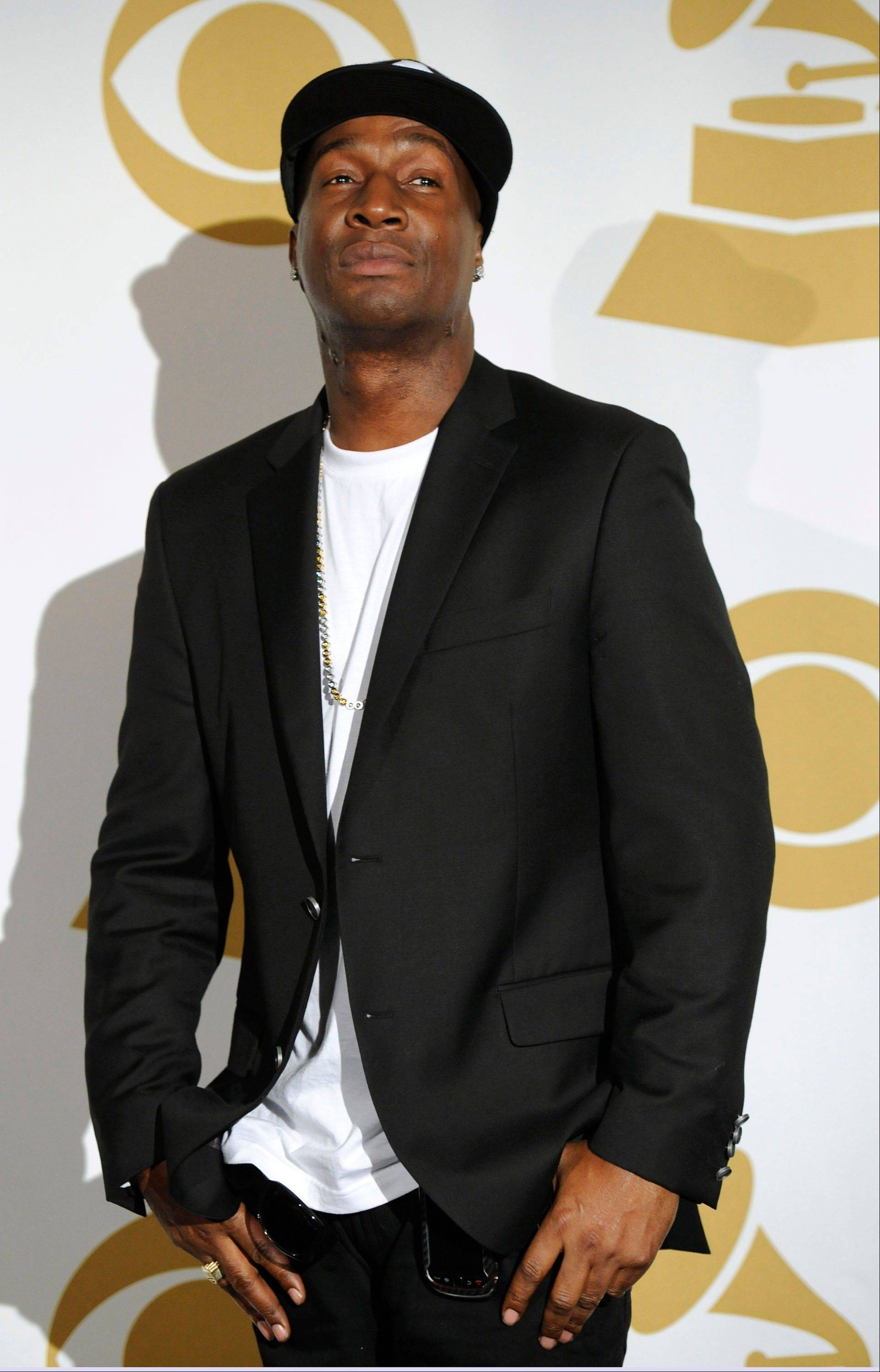 Grandmaster Flash backstage Wednesday at the Grammy Nominations Concert in Los Angeles.
