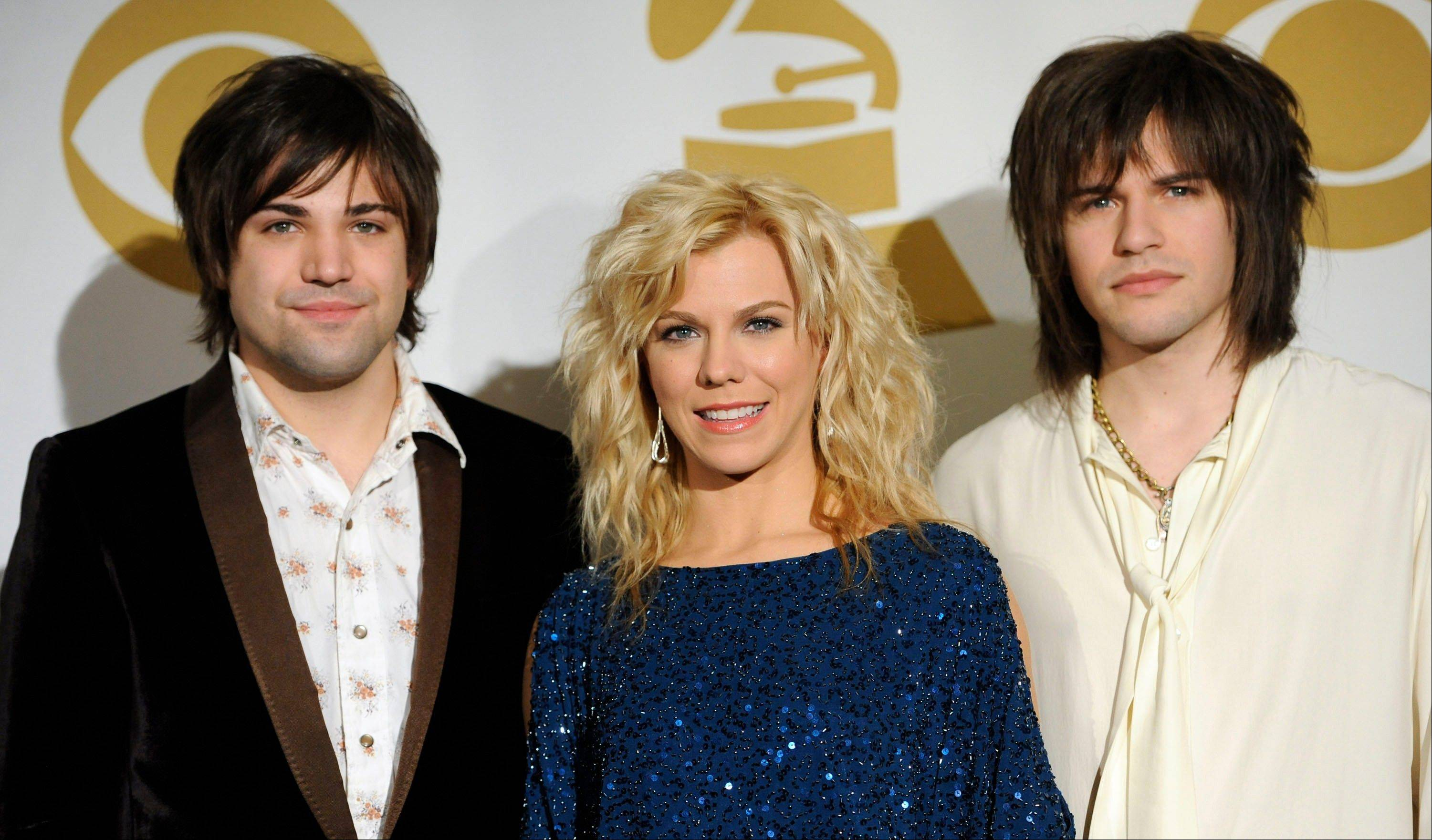 The Band Perry, from left, Neil Perry Kimberly Perry, and Reid Perry, at the Grammy Nominations Concert Wednesday in Los Angeles.