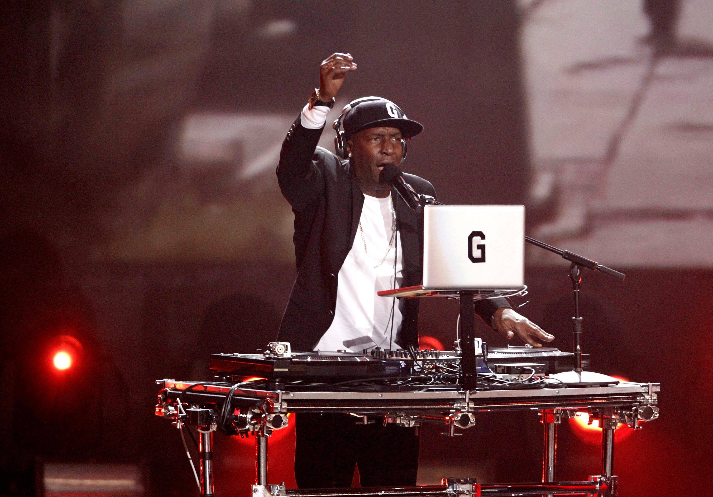 Grandmaster Flash performs Wednesday at the Grammy Nominations Concert in Los Angeles.