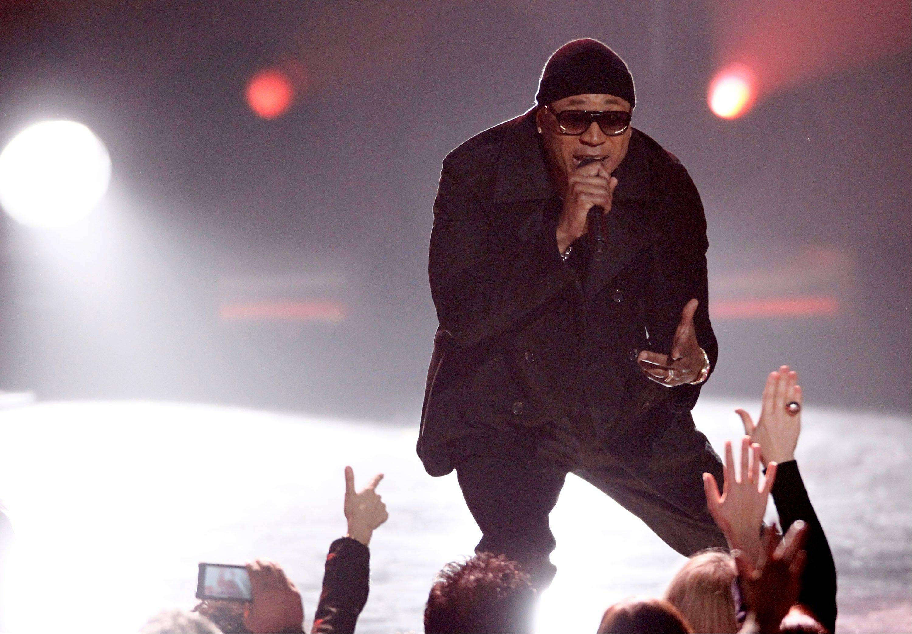 LL Cool J performs Wednesday at the Grammy Nominations Concert in Los Angeles.