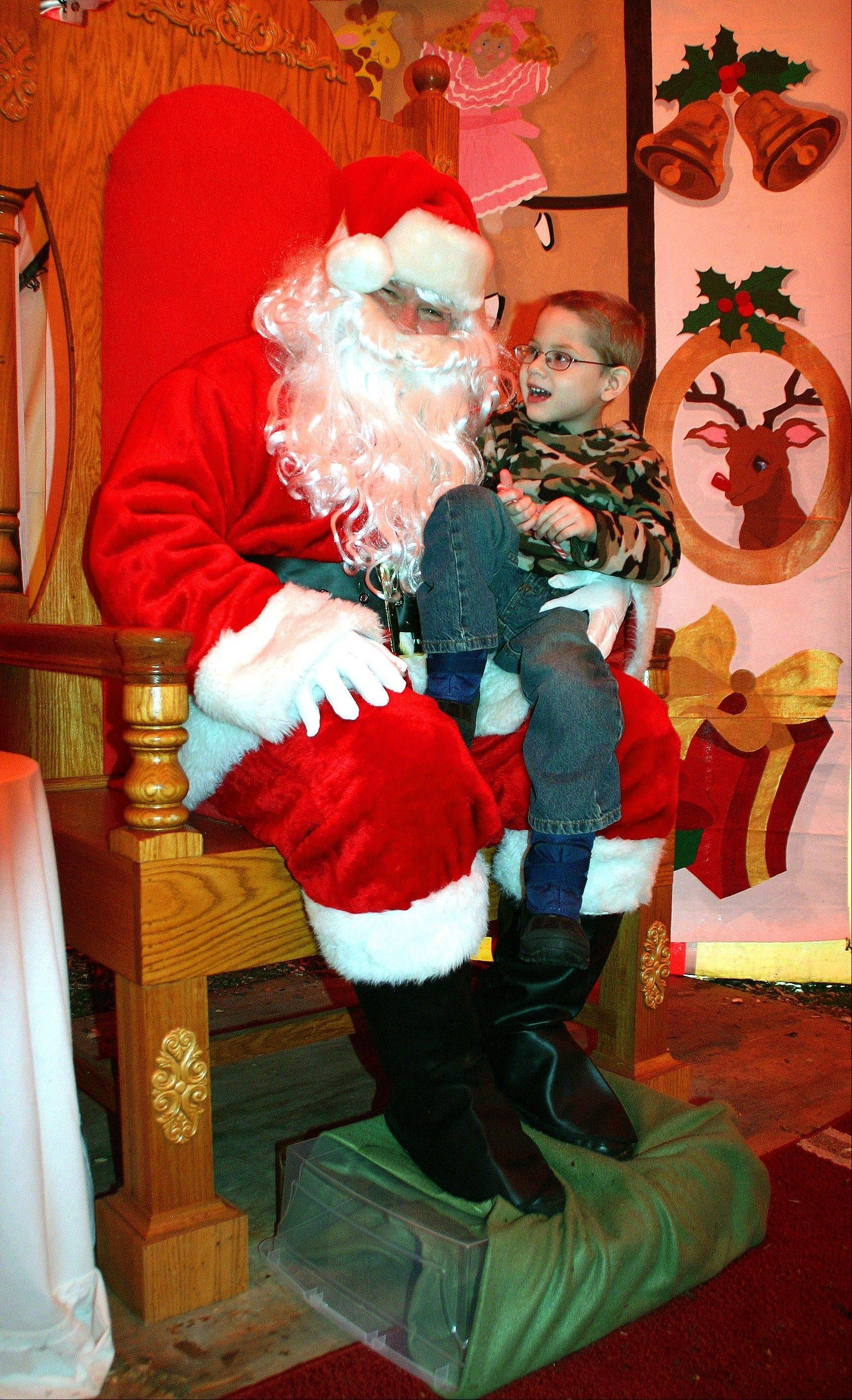 Teddy Christiansen has been a very good boy this year. The chamber is sponsoring free pictures.