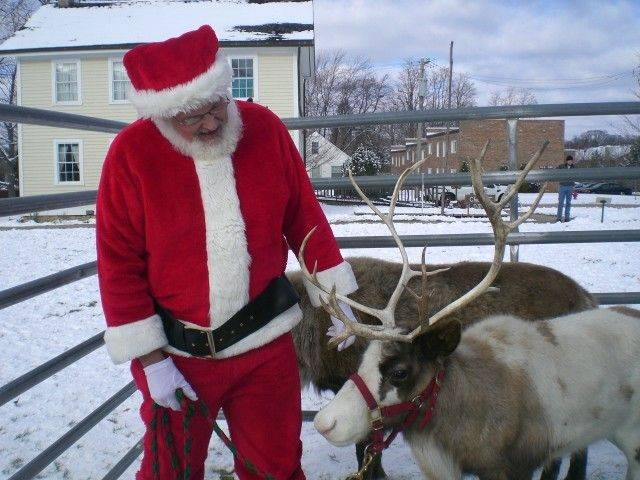 Santa will have live reindeer with him at the Museums of Lisle Station Park on Sunday during Once Upon a Christmas. Santa and Mrs. Claus will meet with children at the museum on Saturday and Sunday.