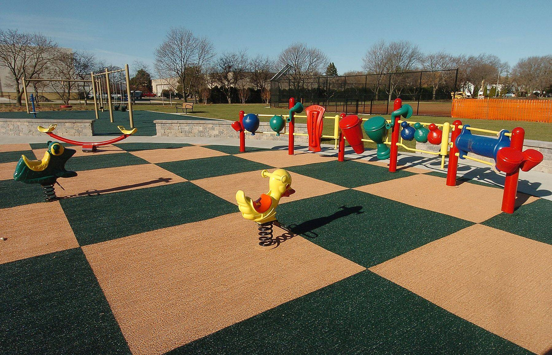 New playground equipment has been added to the updated Northside Park in Wheeling. The park reopened recently after completion of a $250,000 renovation project.
