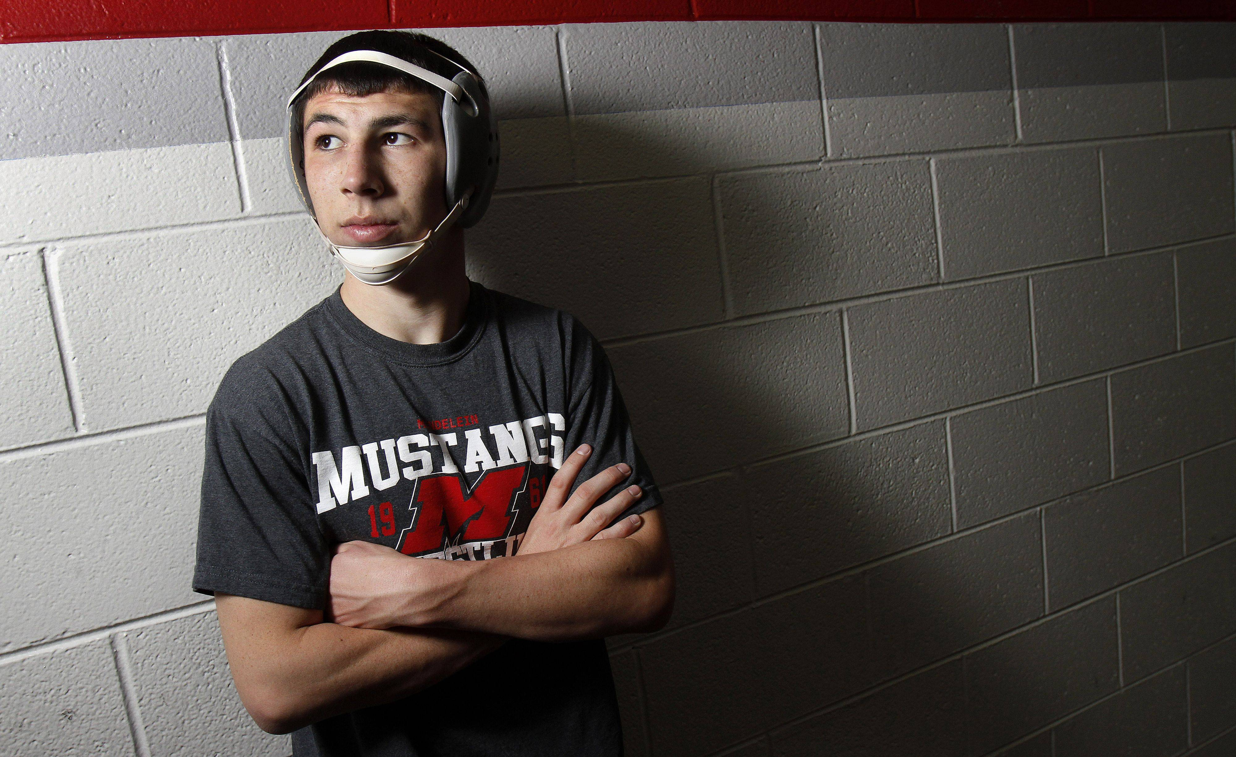 Matt Ornoff is on track to finish with more victories than any wrestler in Mundelein history.