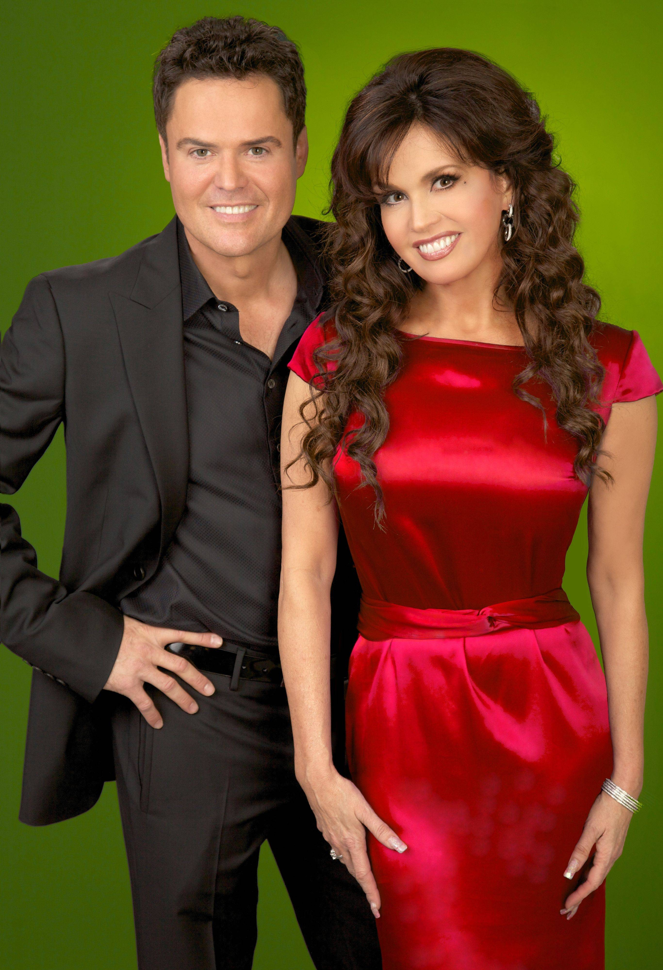 "Donny and Marie Osmond bring their holiday spirit to the Oriental Theatre with ""Donny and Marie -- Christmas in Chicago."""