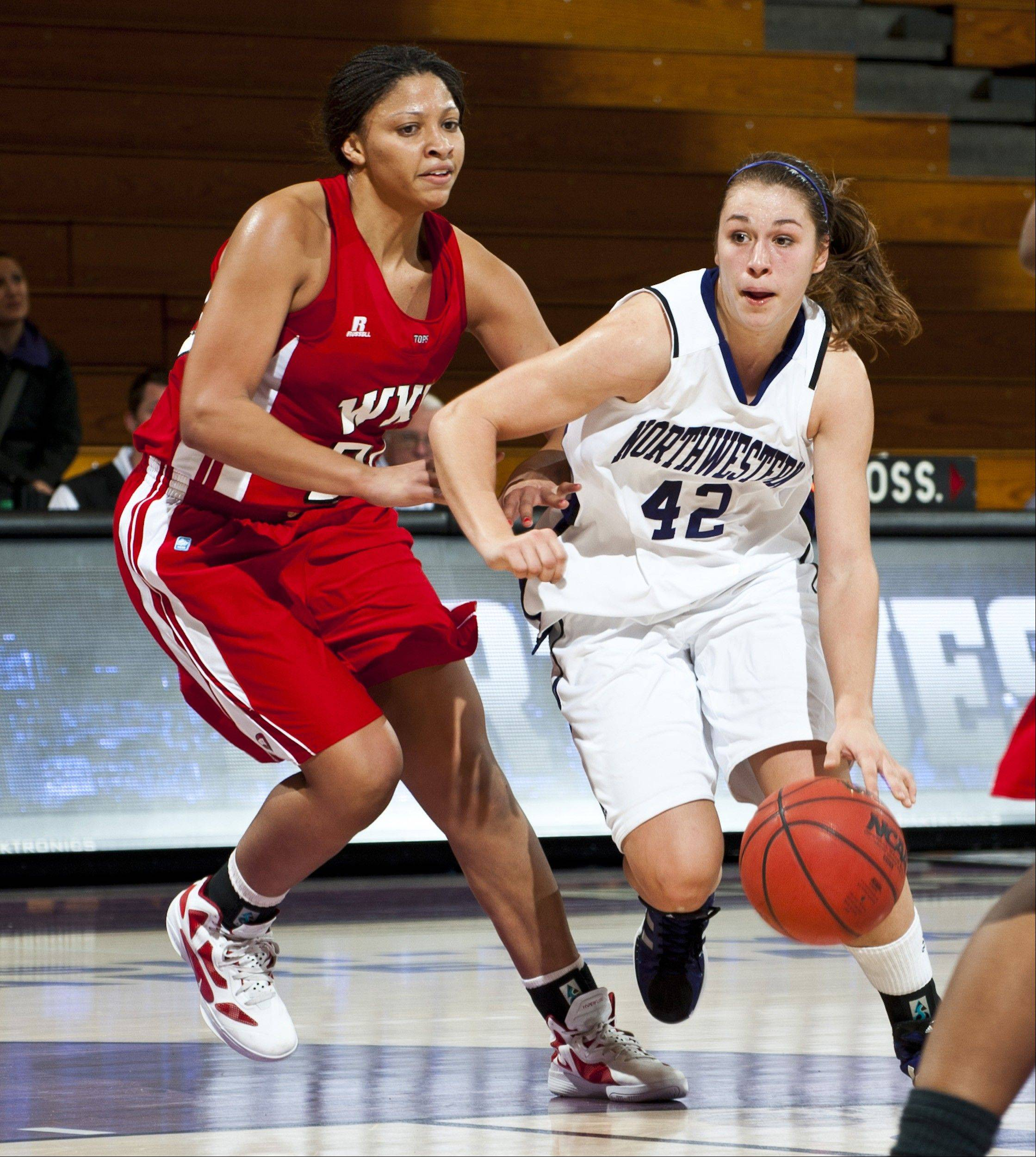 Karly Roser, a freshman point guard for Northwestern, has already had two double-doubles for the Wildcats this season. As a high school player she made the Canadian National Team.
