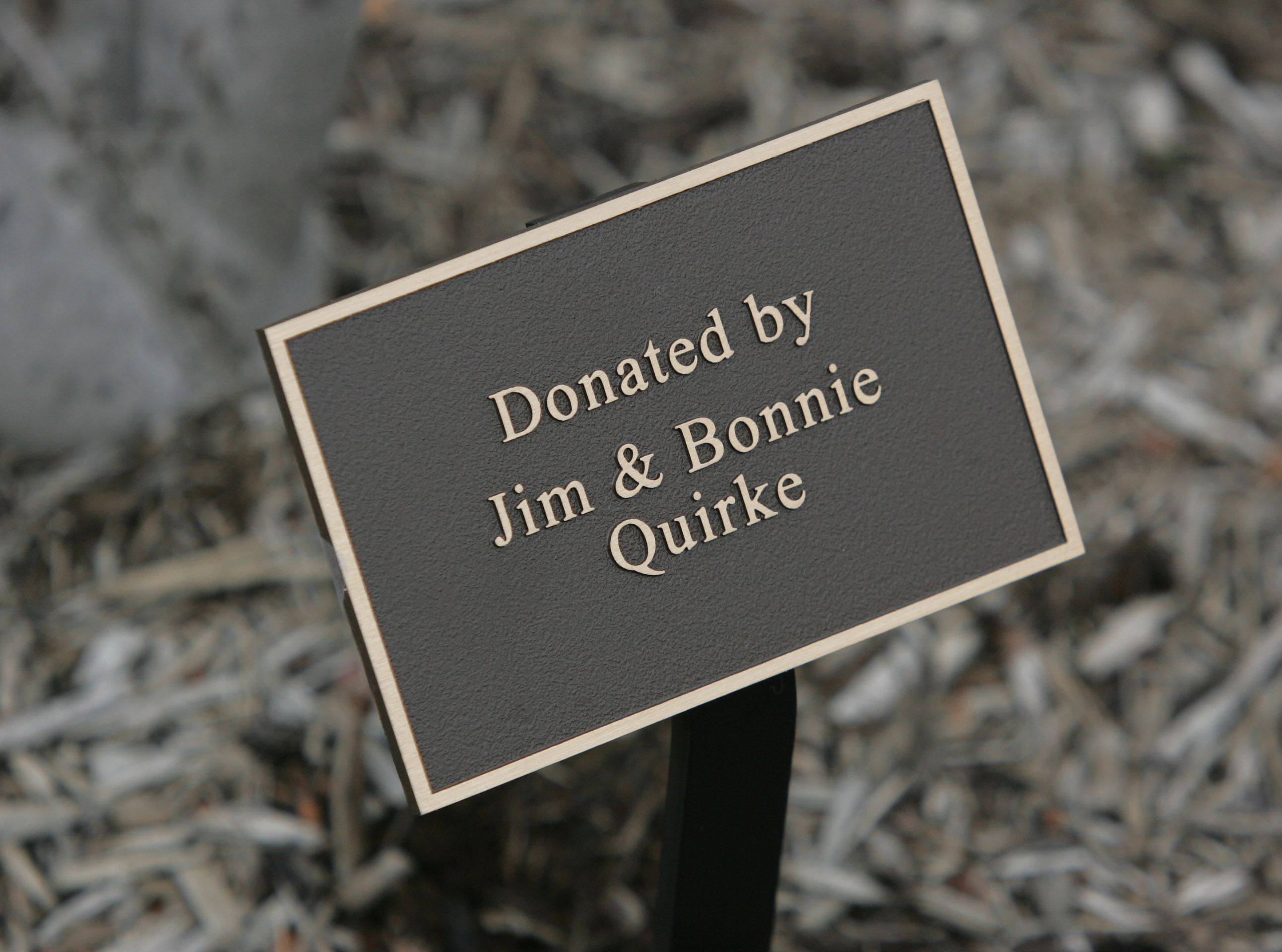 Cook Memorial Public Library board President Bonnie Quirke and her husband, Jim, sponsored a tree at the Libertyville facility.