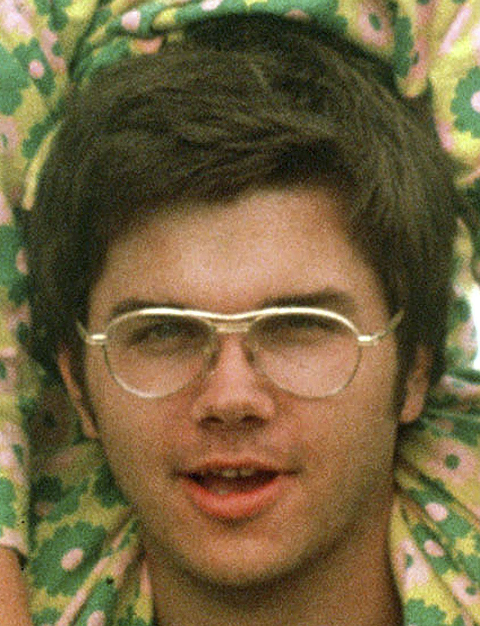 In this 1975 file photo, Mark David Chapman is seen at Fort Chaffee near Fort Smith, Ark. Chapman shot and killed John Lennon on Dec. 8, 1980.