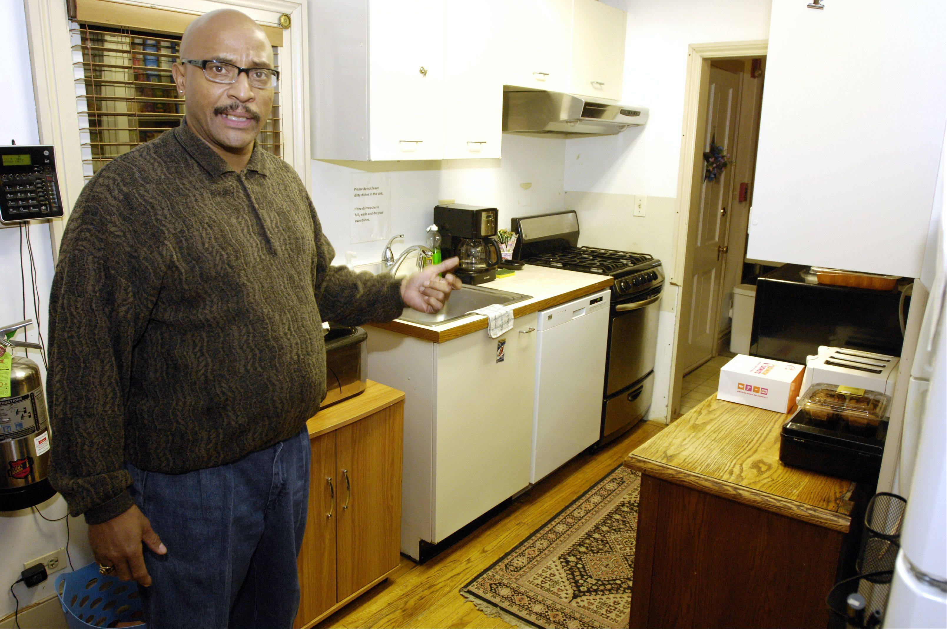 Vietnam-era veteran Terry Barnes lives at the Midwest Shelter of Homeless Veterans in Wheaton. He served in the Marines from 1975-1979. Barnes currently works as a chef at Edward Hines Jr. VA hospital in Hines and was planning to move into an apartment Dec. 1.