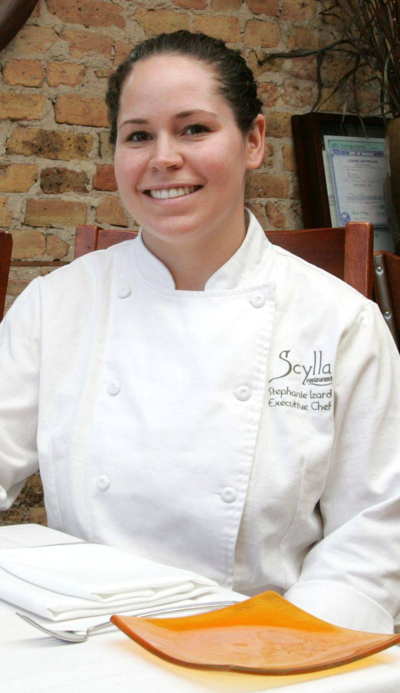 Chef Stephanie Izard at Scylla in 2005.