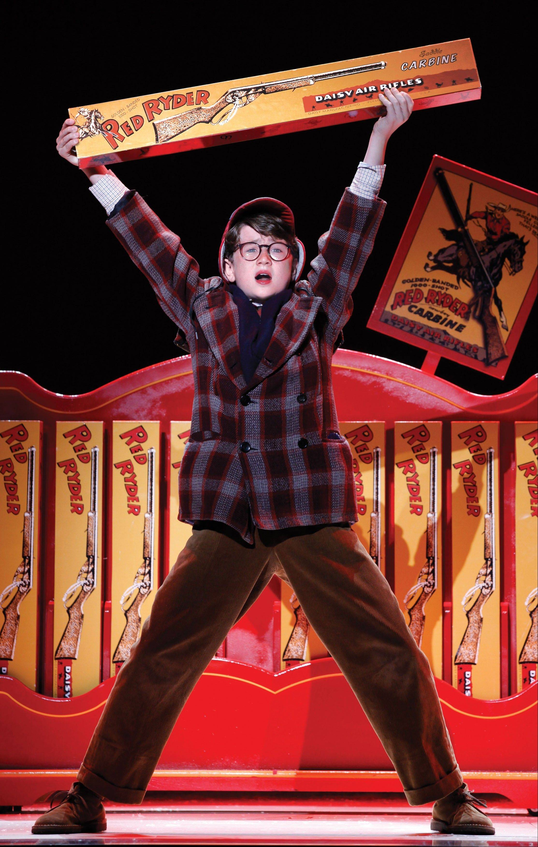 "Clarke Hallum stars in ""A Christmas Story, The Musical!"" at the Chicago Theatre from Dec. 14 through 30."