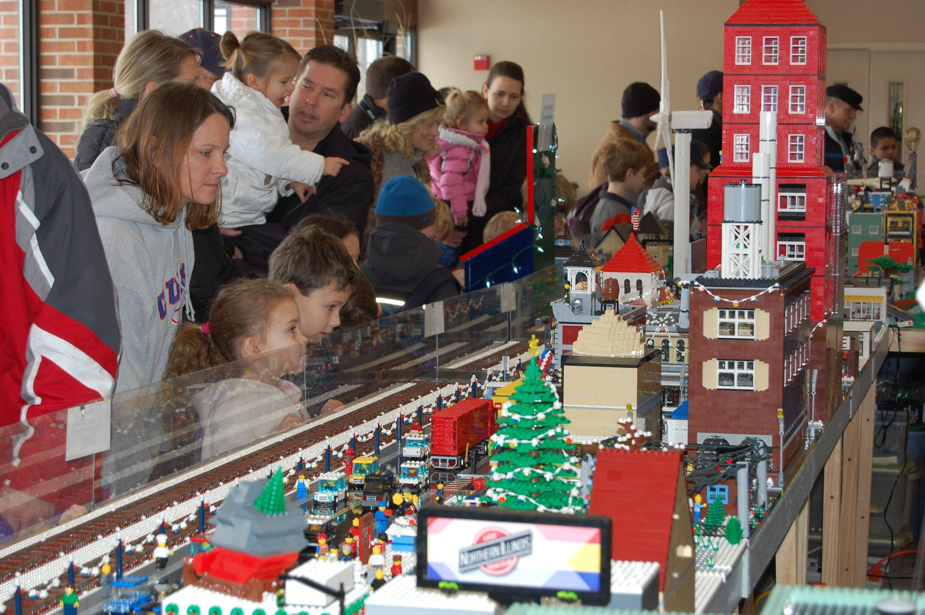 Lego bricks will form a complex design at the annual Lego Train Show at Cantigny Park in Wheaton. The Northern Illinois Lego Train Club presents the show Saturday and Sunday, Dec. 10-11.