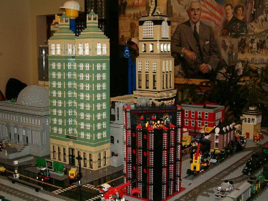 The Lego Train Show at Cantigny Park will feature a wide variety of vignettes -- many with some humorous twists.
