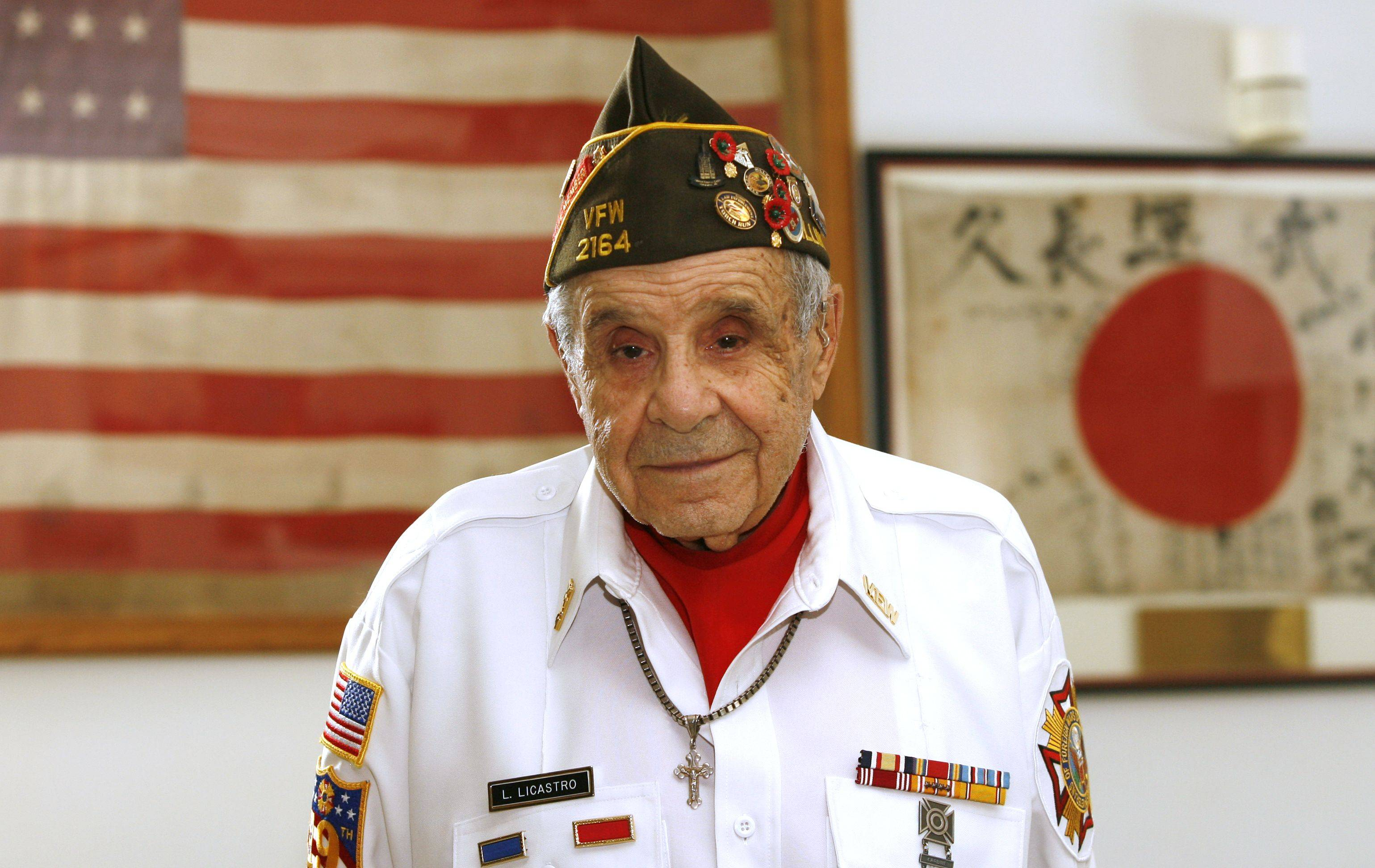 """The burning ships made so much black smoke,"" Louis Licastro, 93, said of the attack on Pearl Harbor. The Glen Ellyn veteran served at Hickam Field."