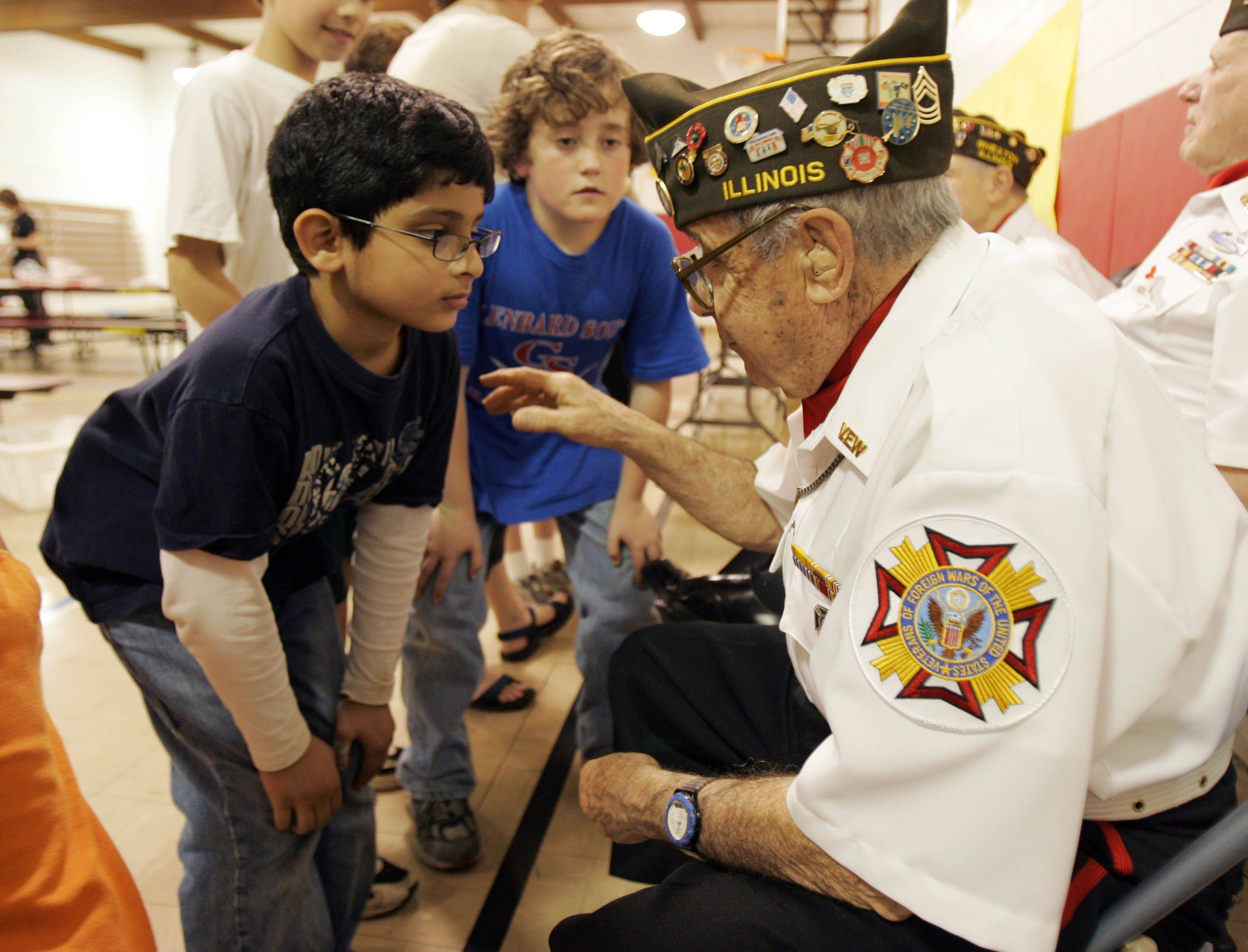 World War II veteran Louis Licastro loves to tell stories, whether to schoolchildren or to folks at the Wheaton VFW.