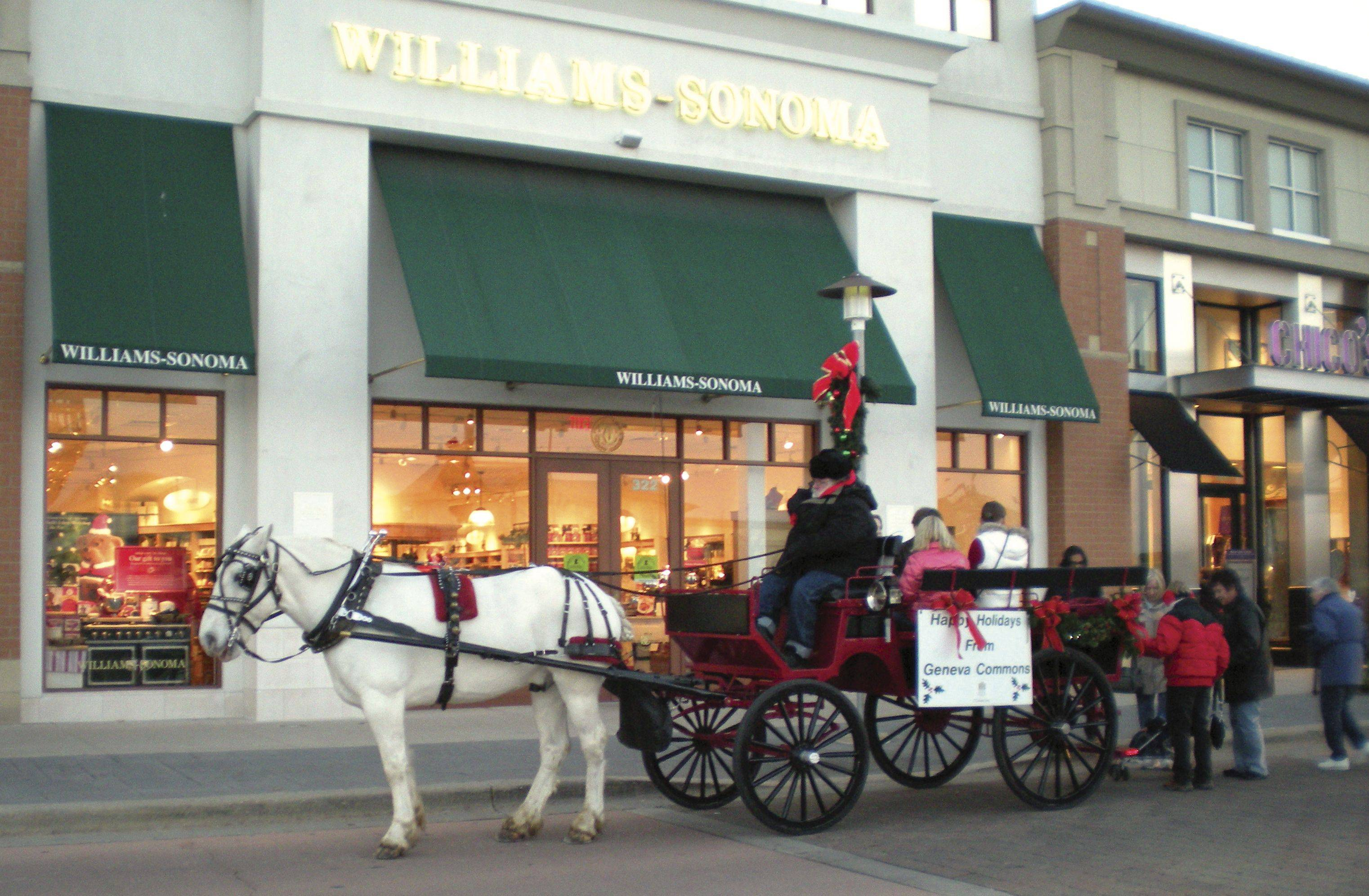 Horse-drawn carriage rides will be available at Geneva Commons from noon to 4 p.m. Sunday, Dec. 11.
