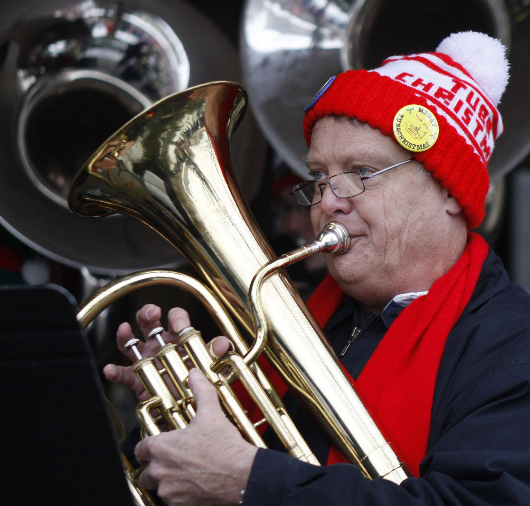 Musicians from age 10 through 83 performed in last year's Tuba Christmas concerts in Naperville and Aurora.