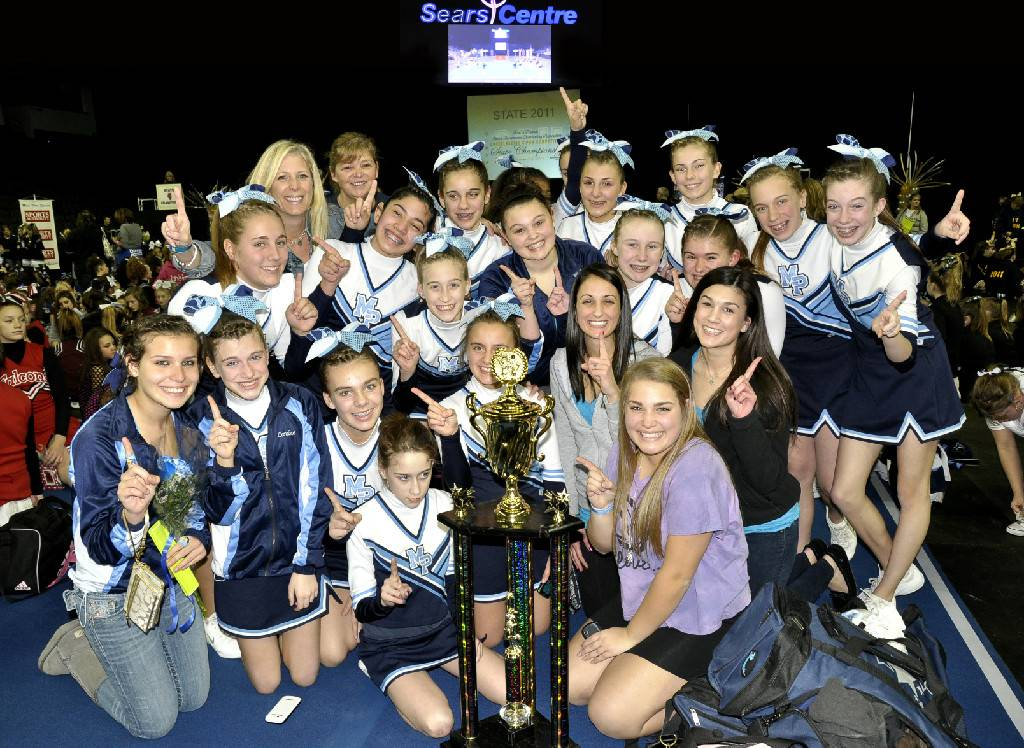 State Champions! - The 2011 Mount Prospect Cheerleading Club seventh-grade competition squad.