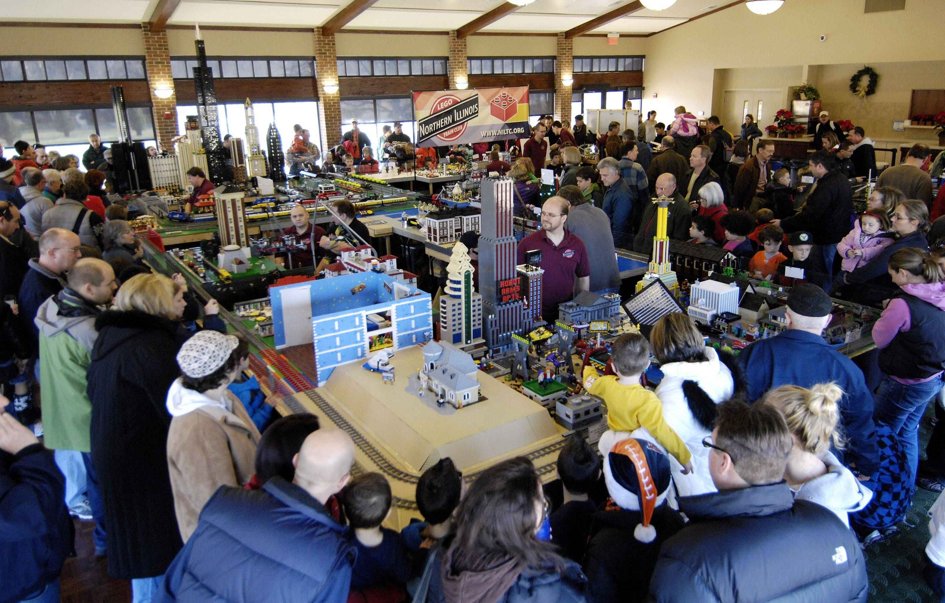 Lego enthusiasts attend the Lego Train Show Sunday at Cantigny Park in Wheaton. A record crowd was expected for the weekend event.