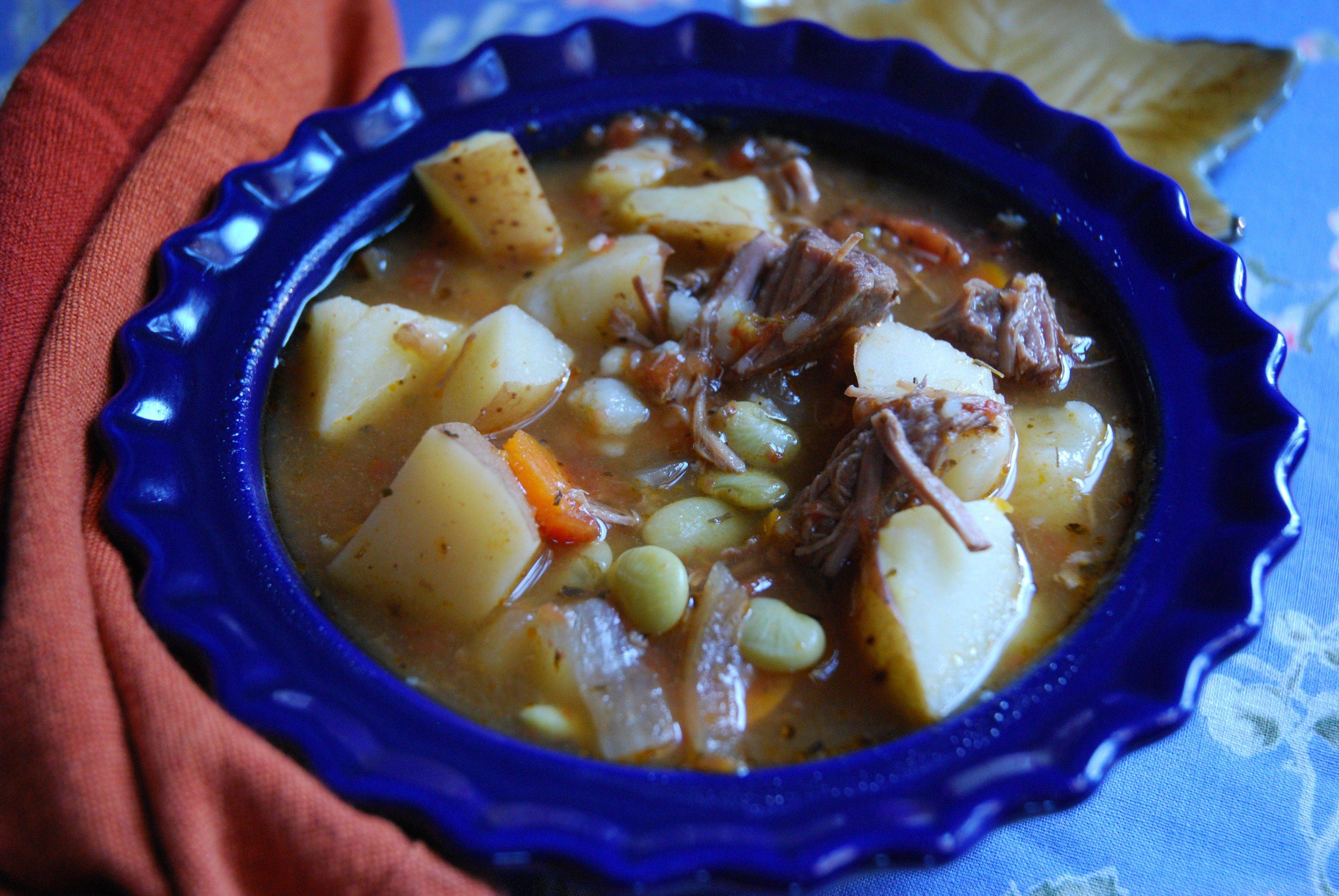 Italian Beef Stew and Vegetables comes together quickly if you have a bath of stewed beef in your freezer.