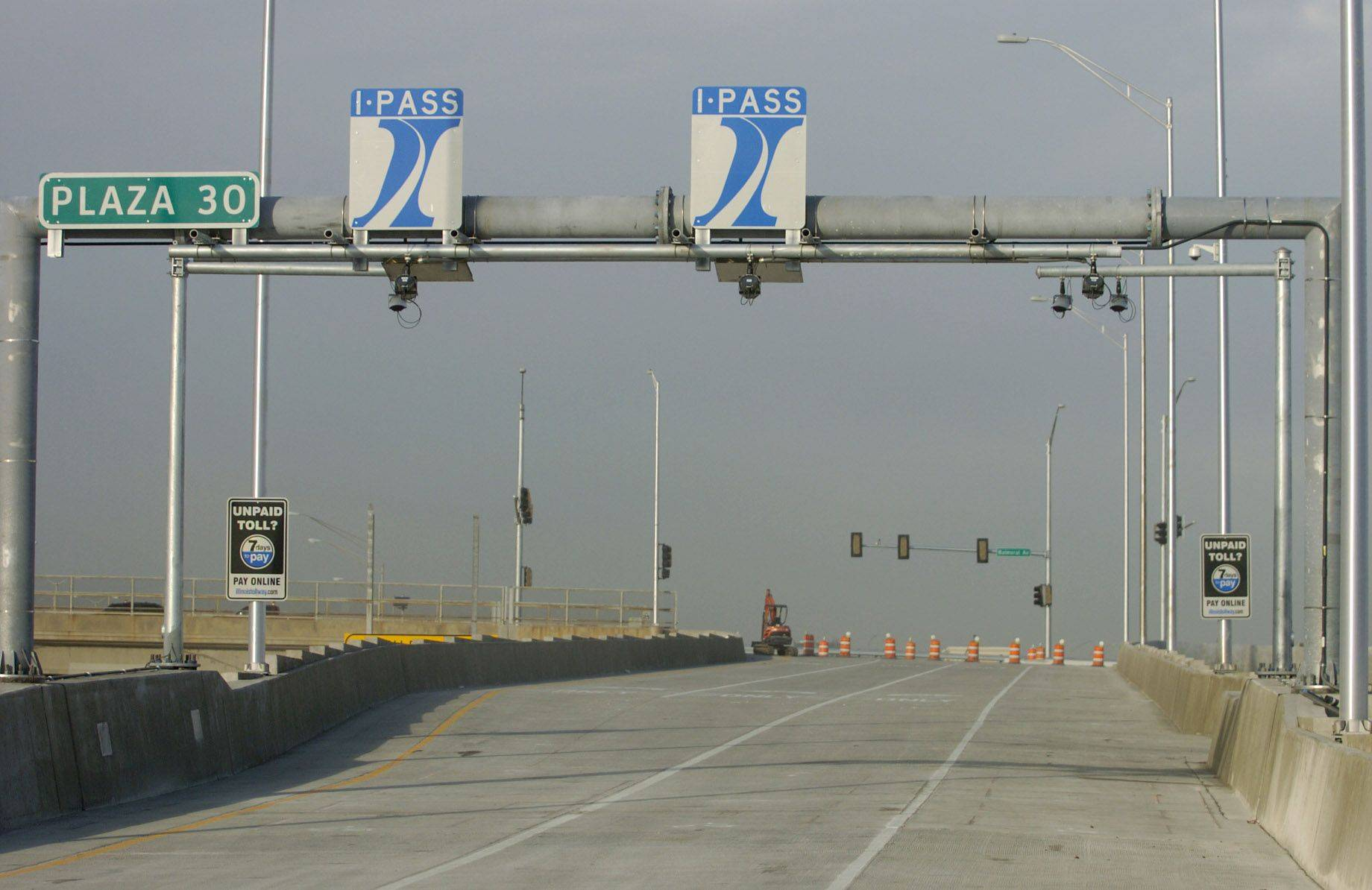 The new Balmoral exit off the northbound Tri-State Tollway is now.