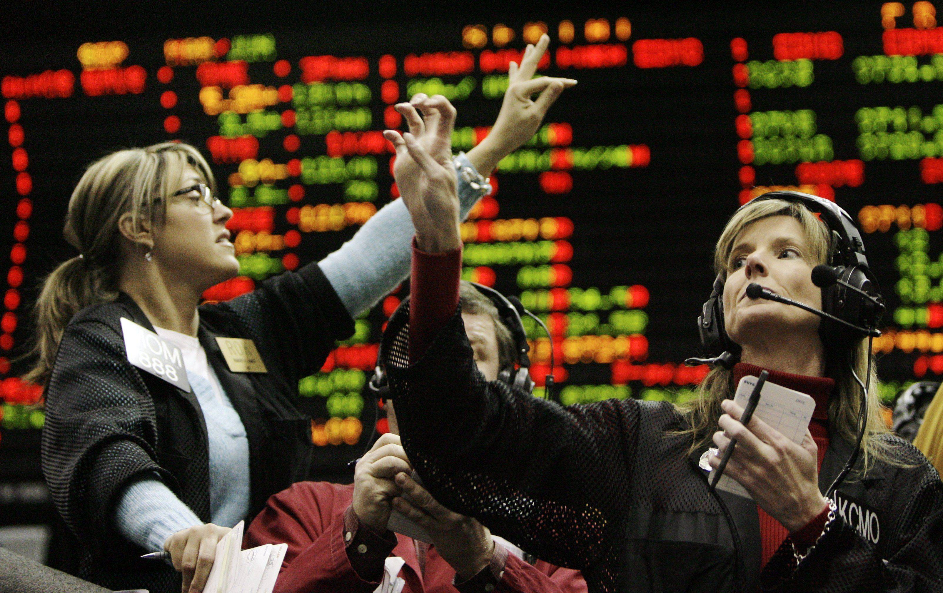Trading at the Chicago Mercantile Exchange.