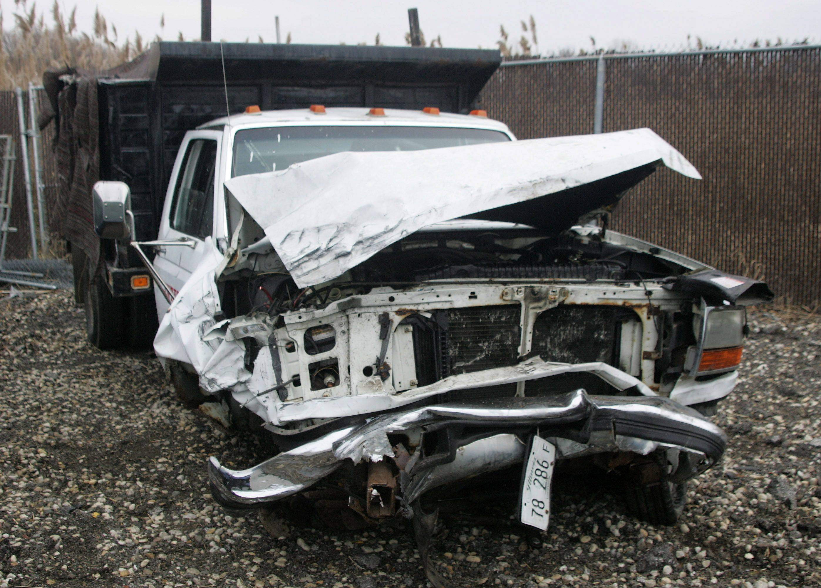 The truck that hit a Lincoln sedan in an accident at Route 12 and Old McHenry Road near Lake Zurich on Monday that resulted in the death of a 10-year-old Island Lake boy.