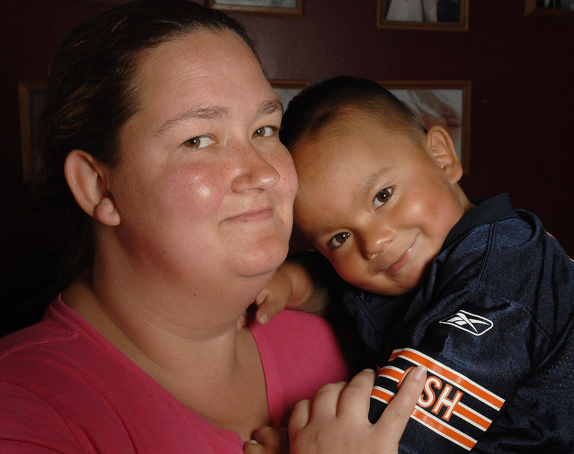 Tina Saavedra of Carpentersville spends most of her time caring for son Nathan, 3, who needs a second kidney transplant.