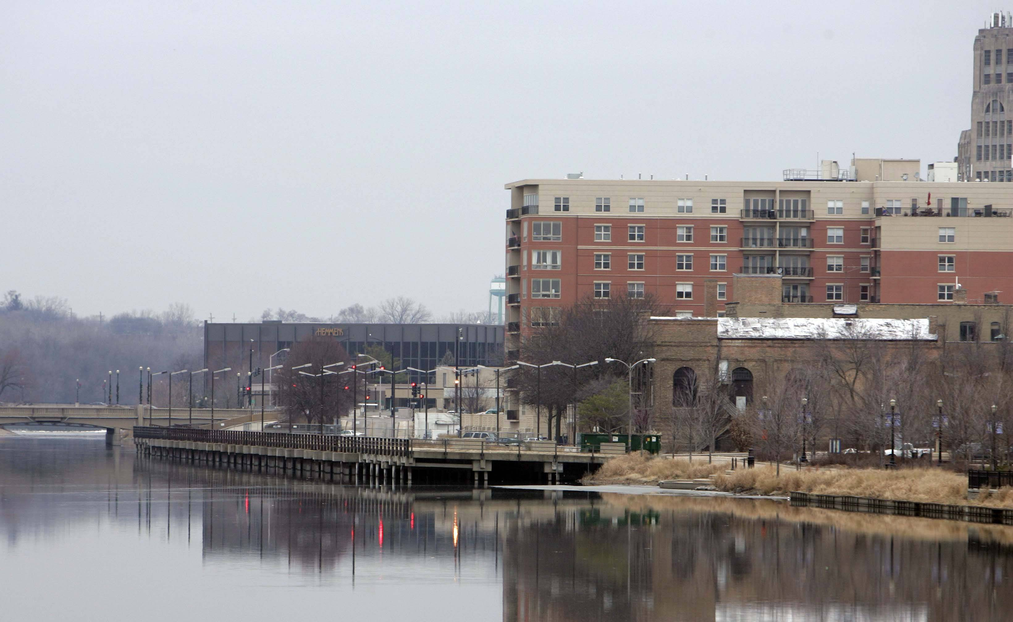 The Riverside Drive Promenade project has been in the works for years but is finally poised to start this spring. The state has been holding onto a promised $8 million since October 2010 but Elgin officials said the money will be released and demolition of the existing Riverside Drive parking deck may start in the spring.