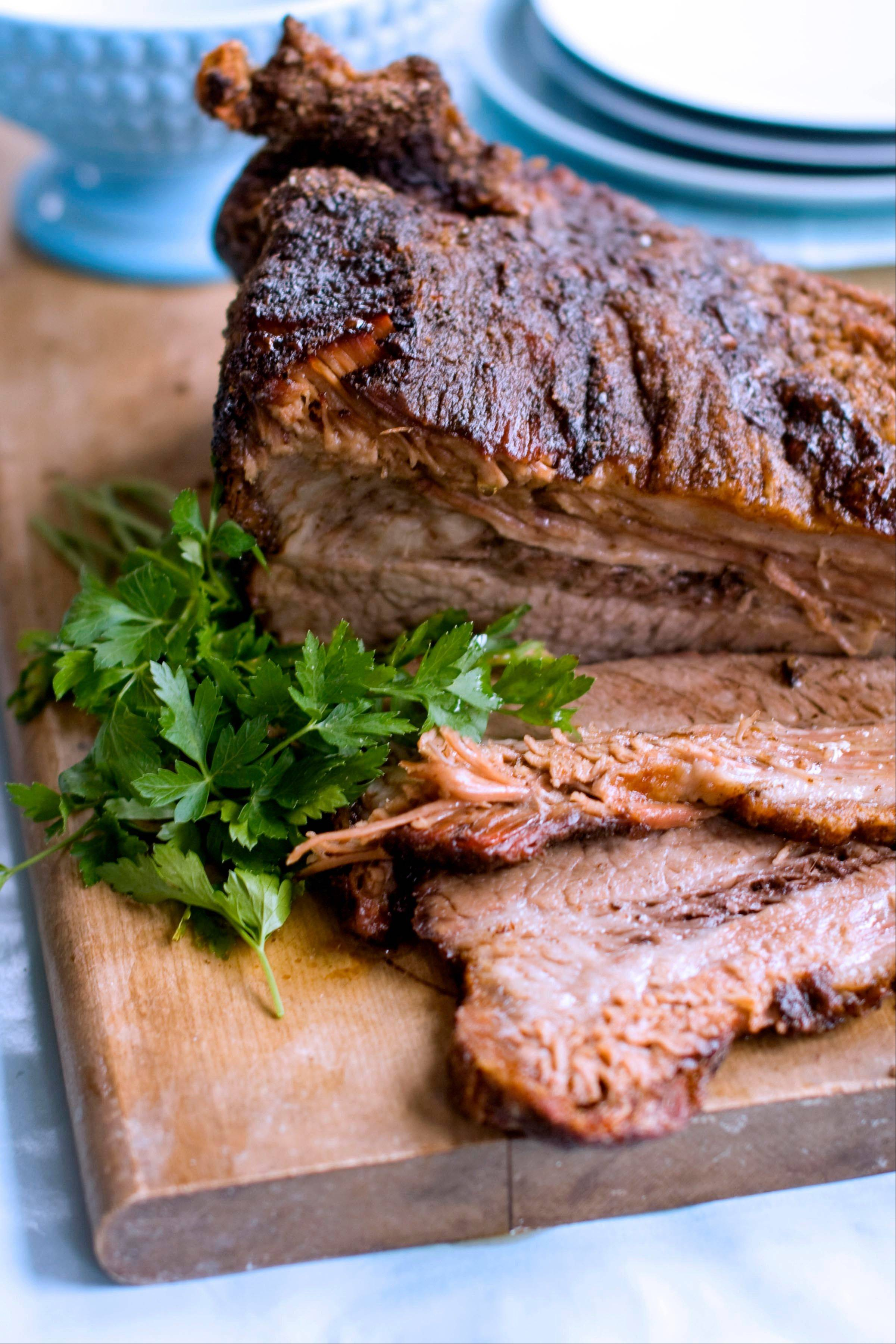 A beef brisket supper is associated with many of the Jewish holidays, but perhaps none more regularly than Hanukkah.